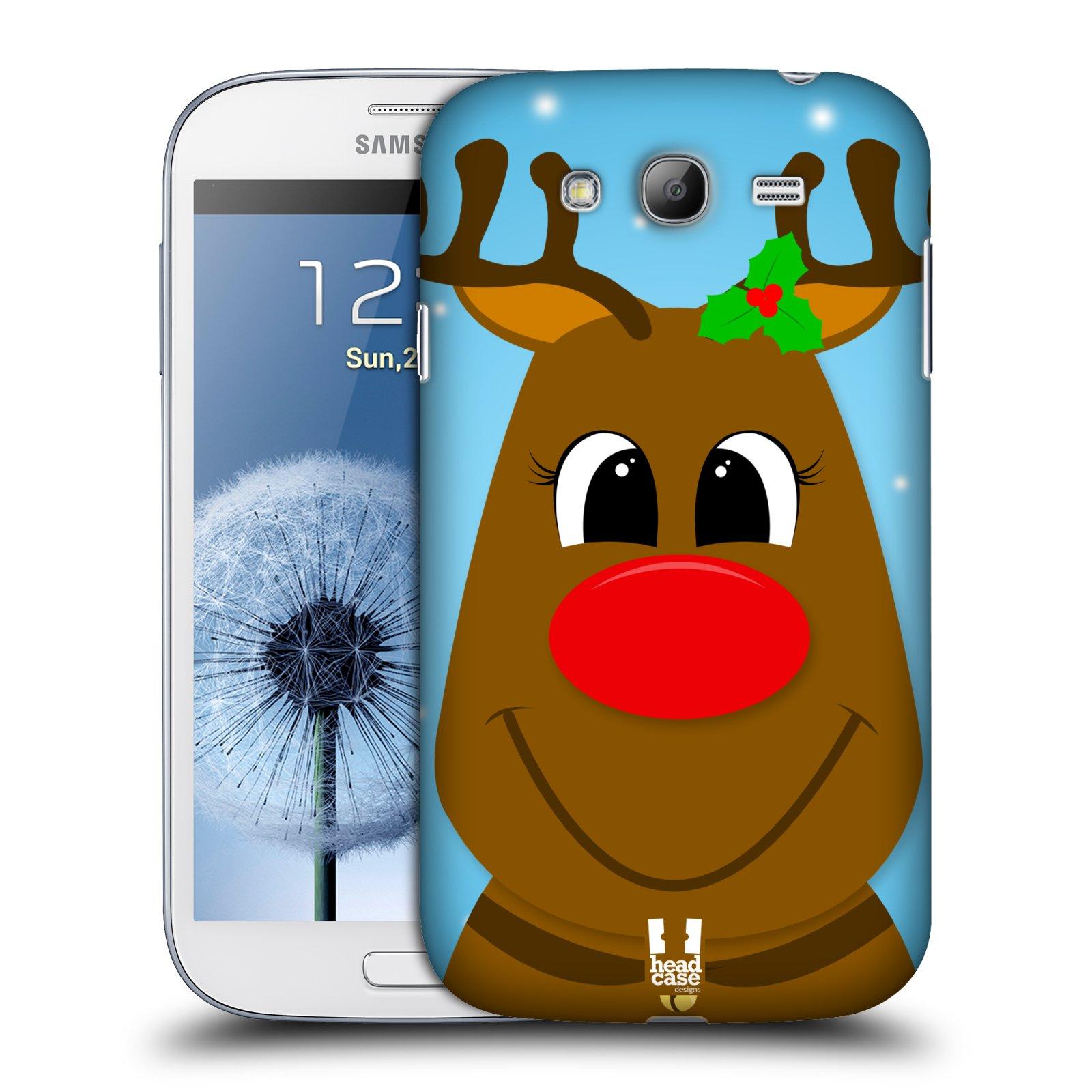 Plastové pouzdro na mobil Samsung Galaxy Grand Neo Plus HEAD CASE VÁNOCE RUDOLF SOB (Kryt či obal na mobilní telefon Samsung Galaxy Grand Neo Plus GT-i9060i)
