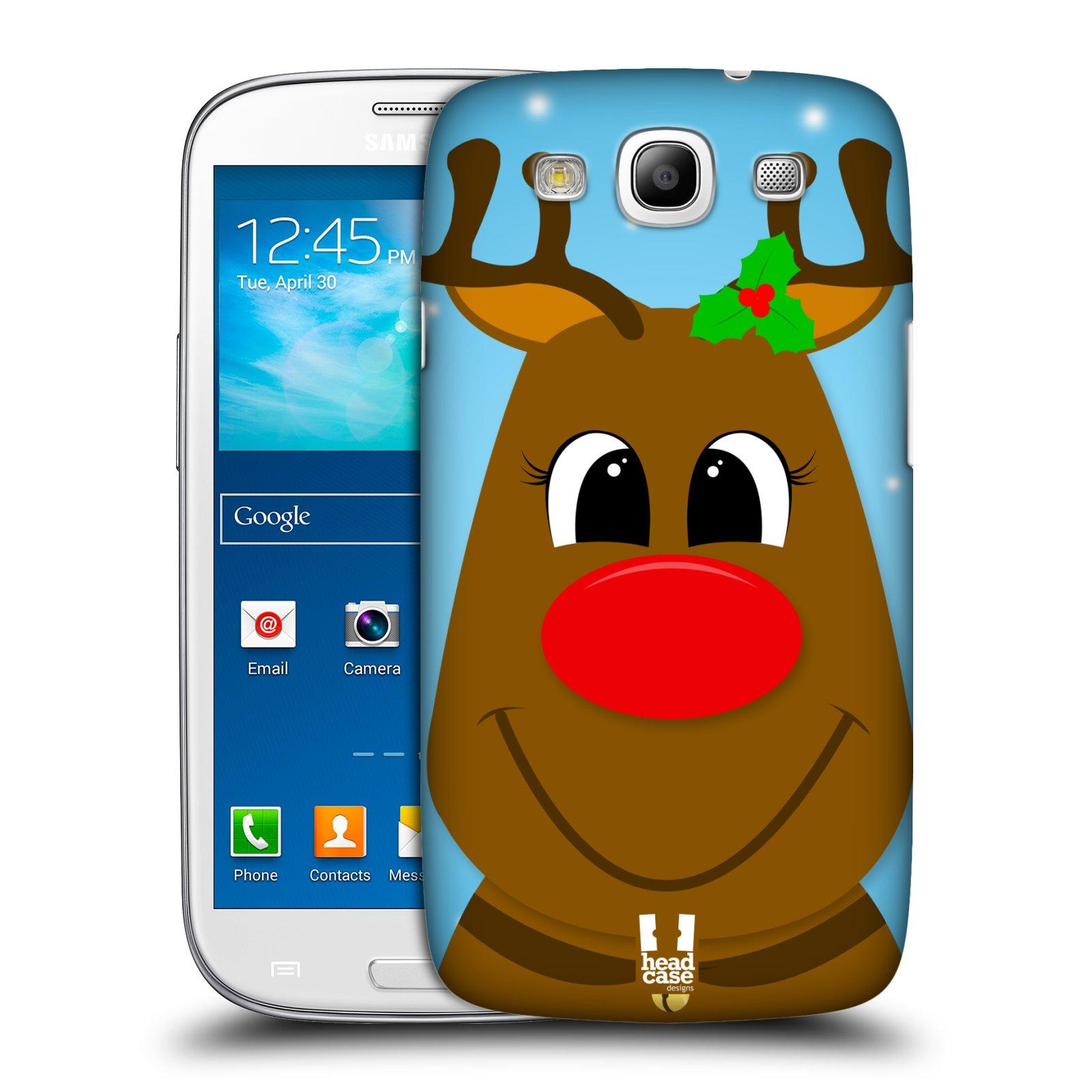 Plastové pouzdro na mobil Samsung Galaxy S3 Neo HEAD CASE VÁNOCE RUDOLF SOB