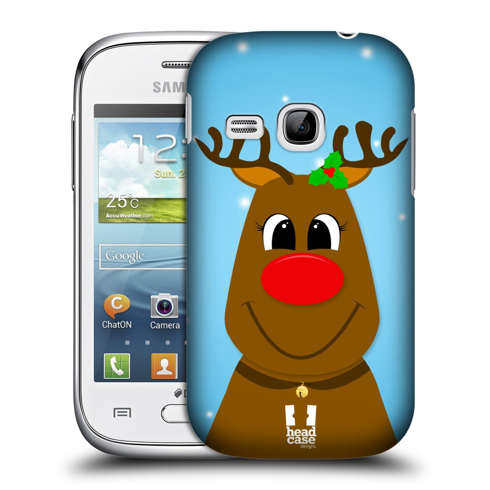 Plastové pouzdro na mobil Samsung Galaxy Young HEAD CASE VÁNOCE RUDOLF SOB (Kryt či obal na mobilní telefon Samsung Galaxy Young GT-S6310)