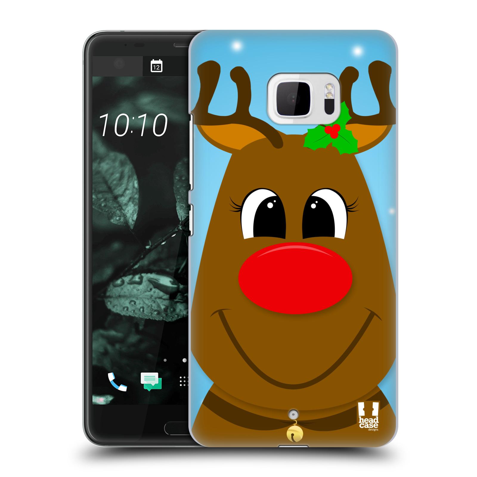 Plastové pouzdro na mobil HTC U Ultra Head Case - VÁNOCE RUDOLF SOB (Plastový kryt či obal na mobilní telefon HTC U Ultra (99HALT015-00))