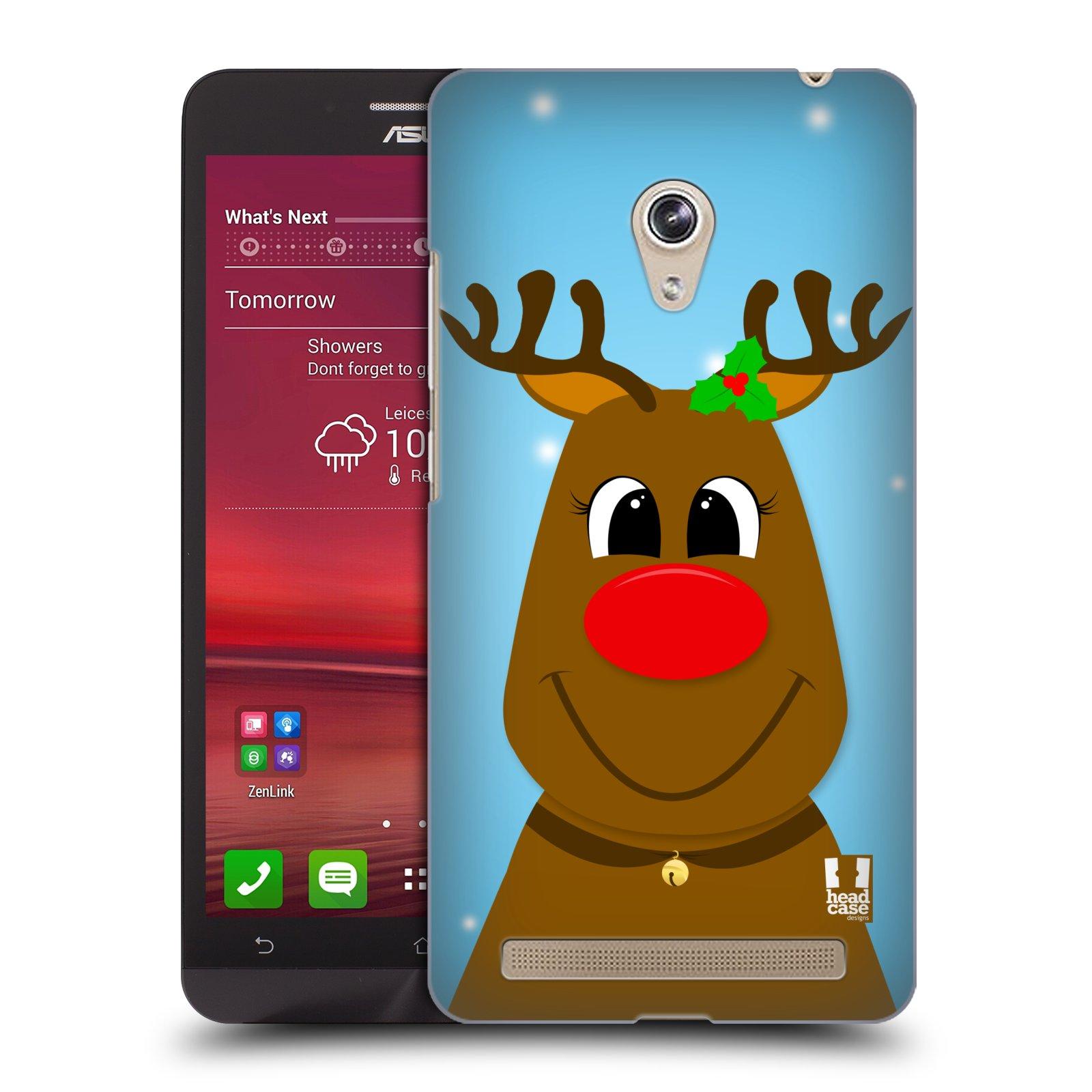 Plastové pouzdro na mobil Asus Zenfone 6 HEAD CASE VÁNOCE RUDOLF SOB (Kryt či obal na mobilní telefon Asus Zenfone 6 A600CG / A601CG)
