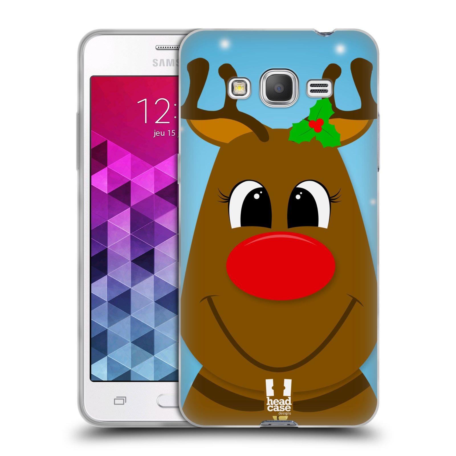 Silikonové pouzdro na mobil Samsung Galaxy Grand Prime HEAD CASE VÁNOCE RUDOLF SOB