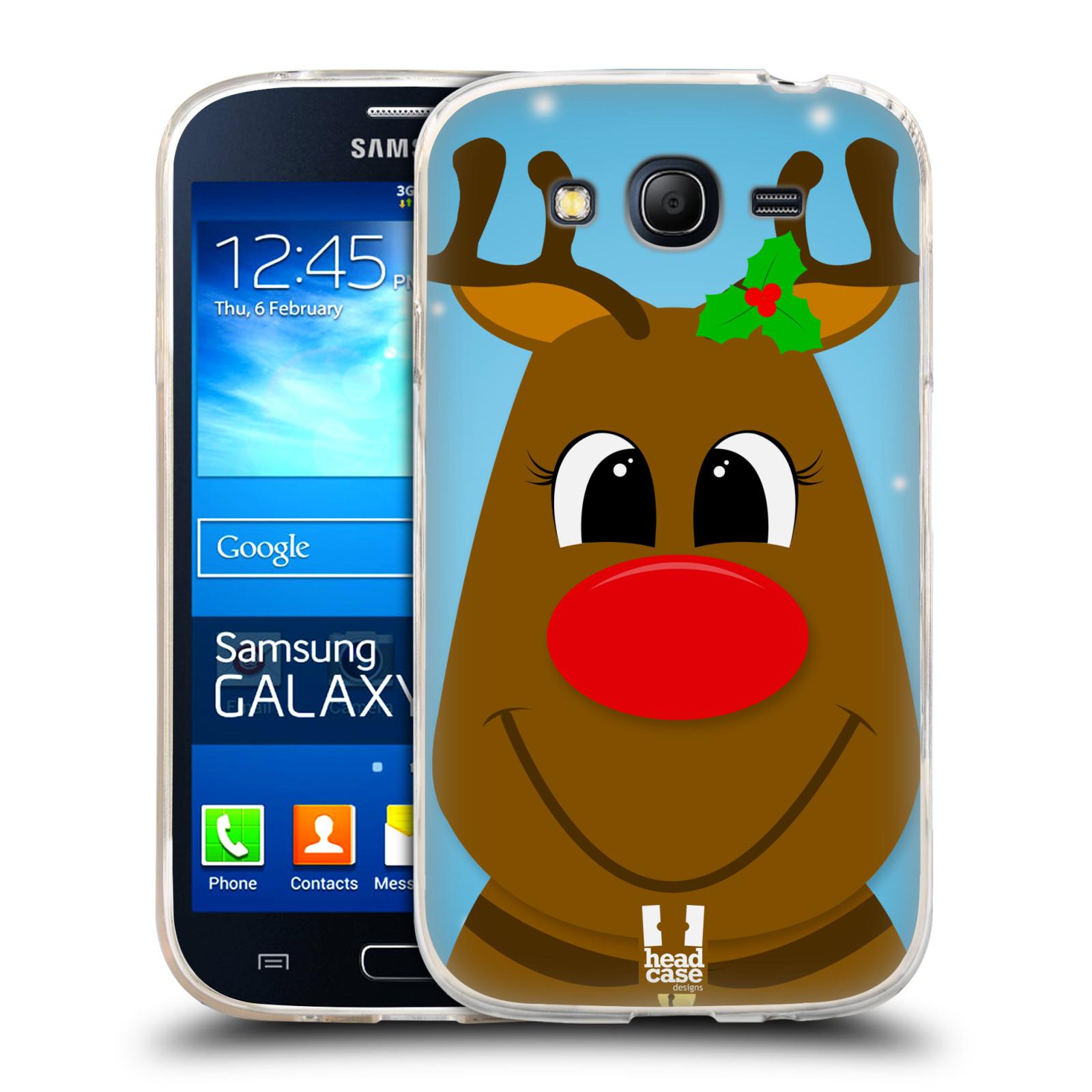 Silikonové pouzdro na mobil Samsung Galaxy Grand Neo HEAD CASE VÁNOCE RUDOLF SOB (Silikonový kryt či obal na mobilní telefon Samsung Galaxy Grand Neo GT-I9060)