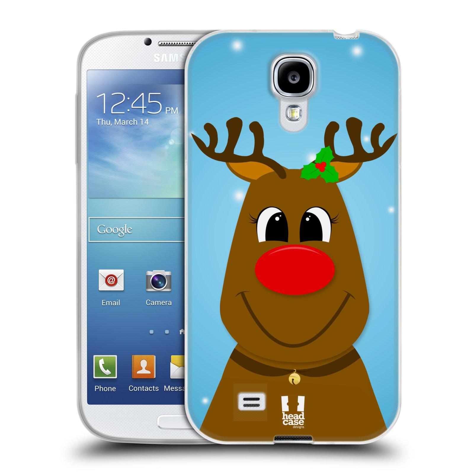Silikonové pouzdro na mobil Samsung Galaxy S4 HEAD CASE VÁNOCE RUDOLF SOB (Silikonový kryt či obal na mobilní telefon Samsung Galaxy S4 GT-i9505 / i9500)
