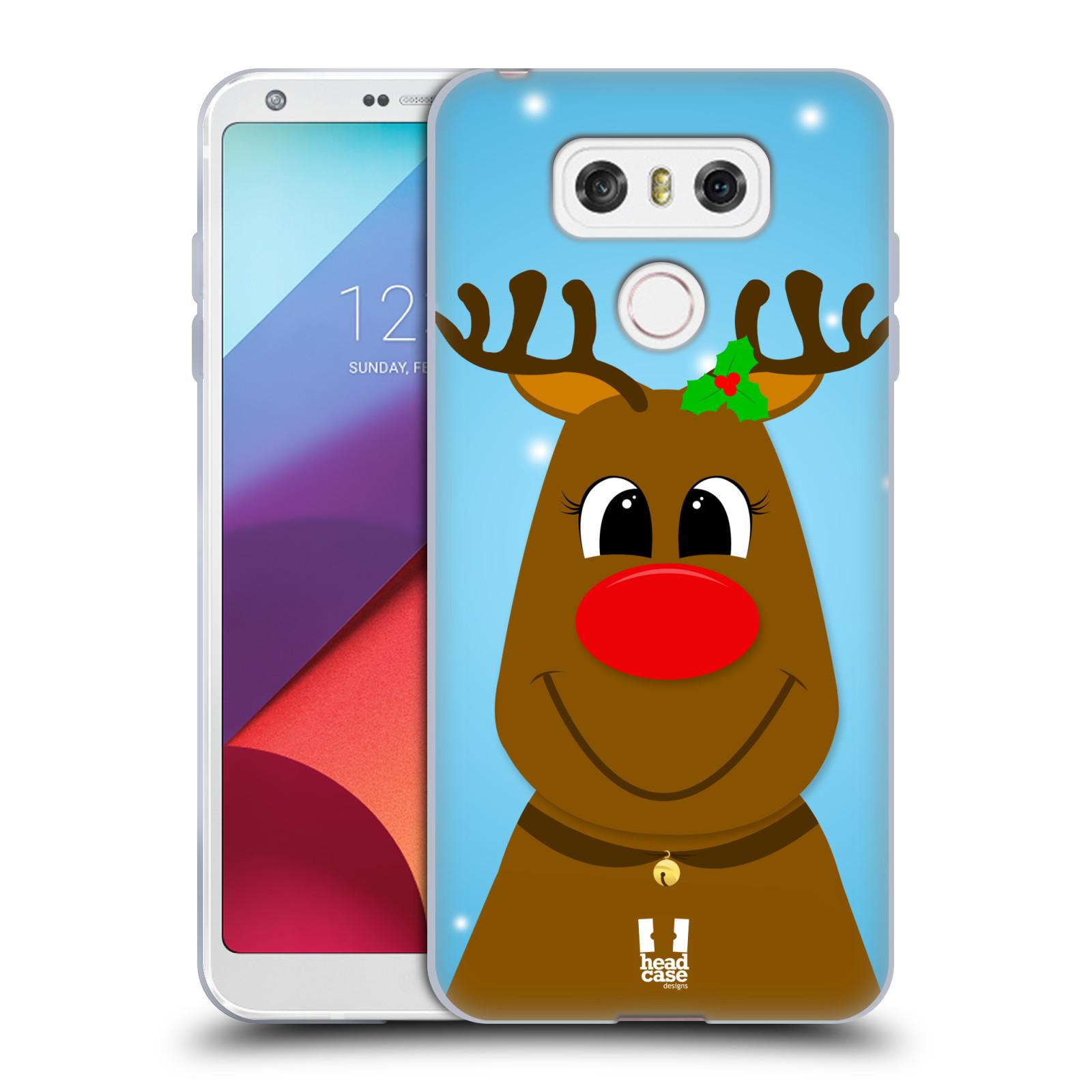 Silikonové pouzdro na mobil LG G6 - Head Case VÁNOCE RUDOLF SOB (Silikonový kryt či obal na mobilní telefon LG G6 H870 / LG G6 Dual SIM H870DS)