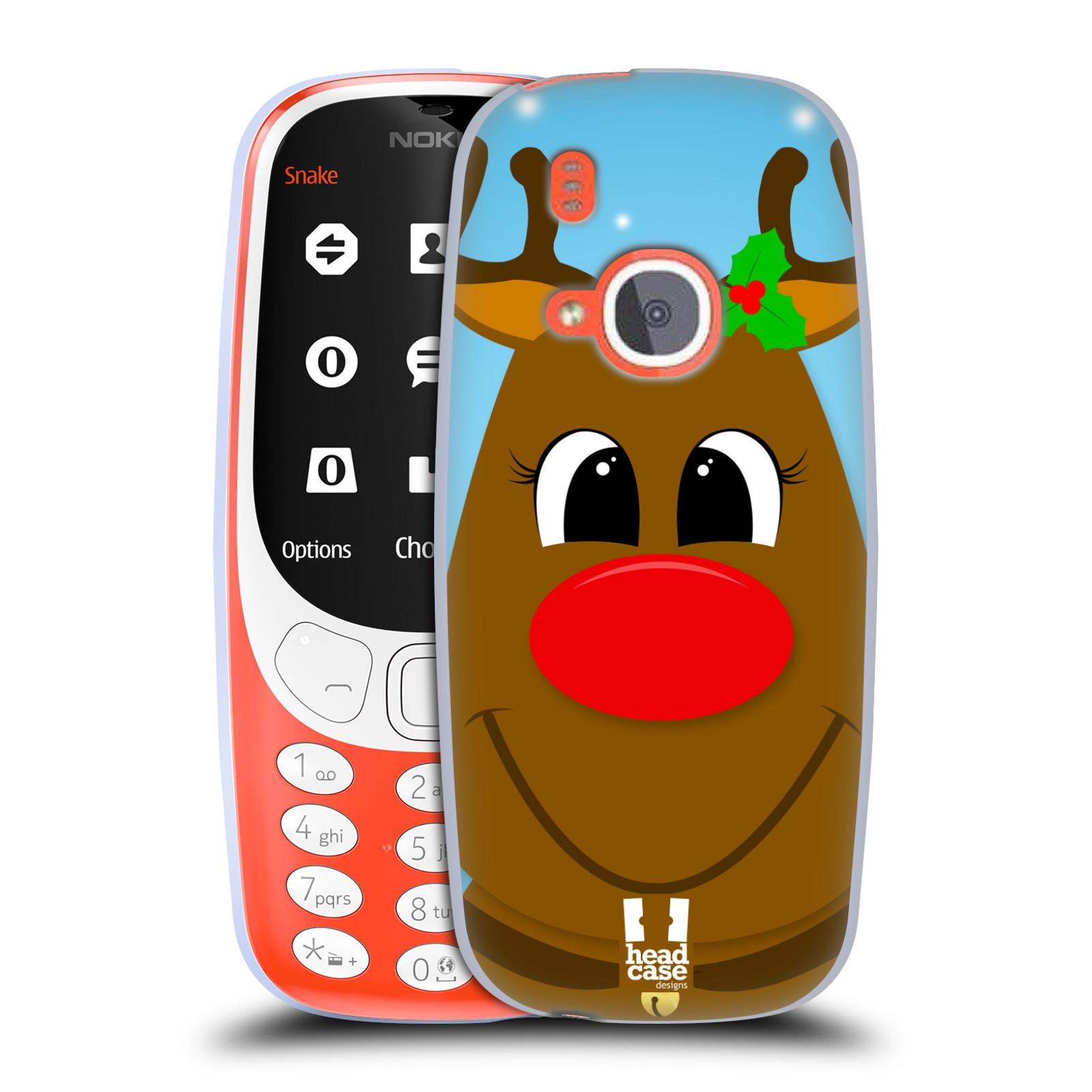 Silikonové pouzdro na mobil Nokia 3310 - Head Case - VÁNOCE RUDOLF SOB (Silikonový kryt či obal na mobilní telefon Nokia 3310 (2017) s motivem VÁNOCE RUDOLF SOB)