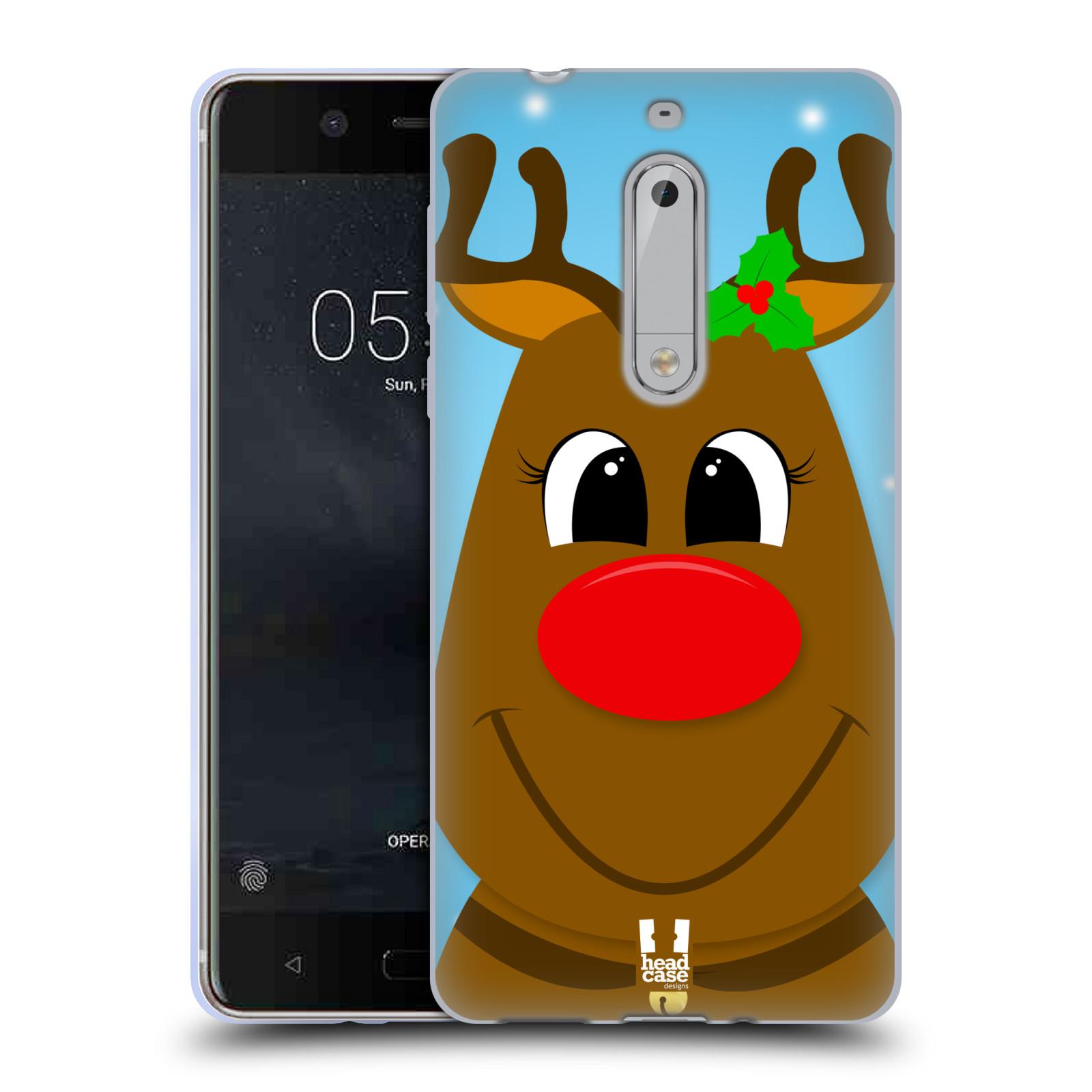 Silikonové pouzdro na mobil Nokia 5 Head Case - VÁNOCE RUDOLF SOB