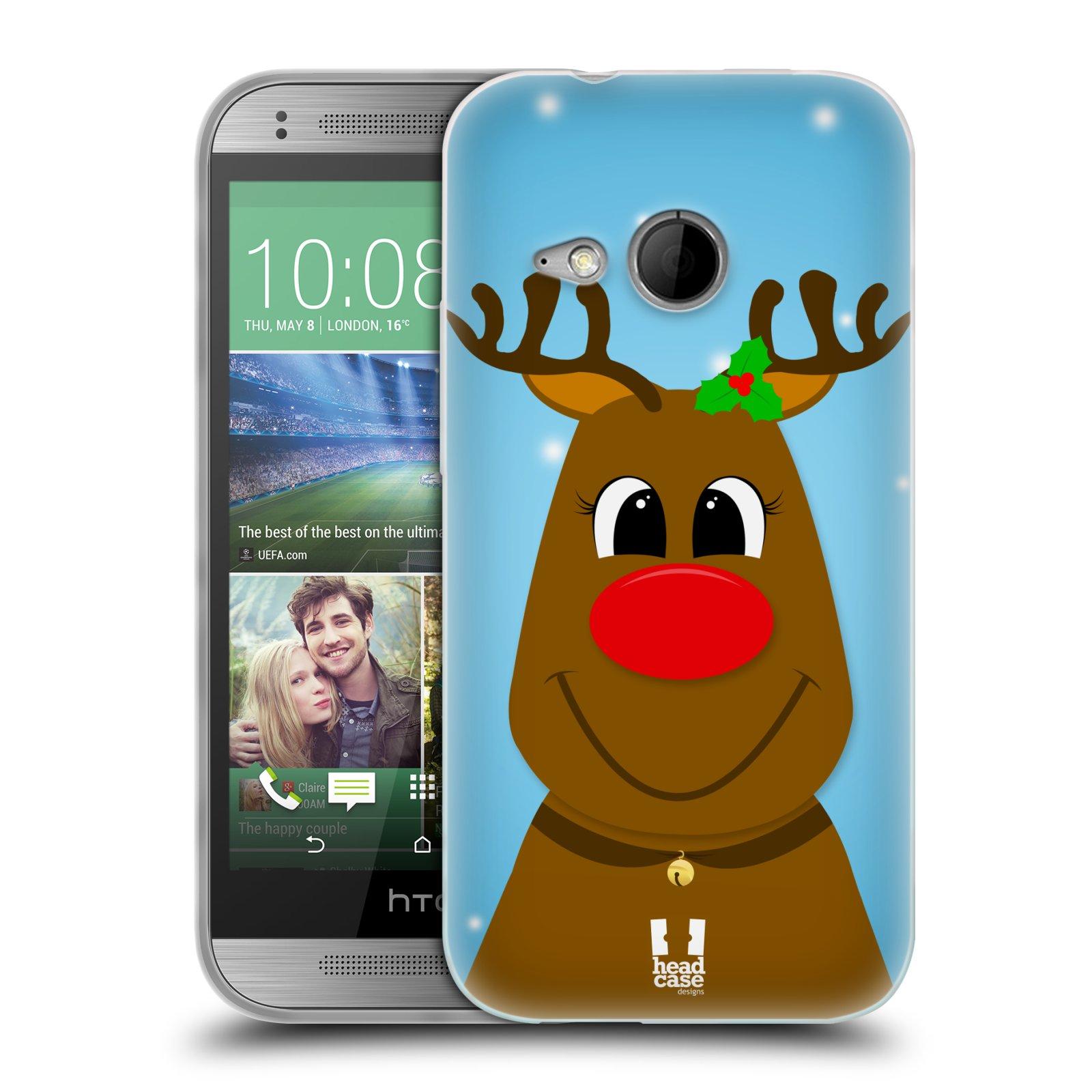 Silikonové pouzdro na mobil HTC ONE Mini 2 HEAD CASE VÁNOCE RUDOLF SOB (Silikonový kryt či obal na mobilní telefon HTC ONE Mini 2)