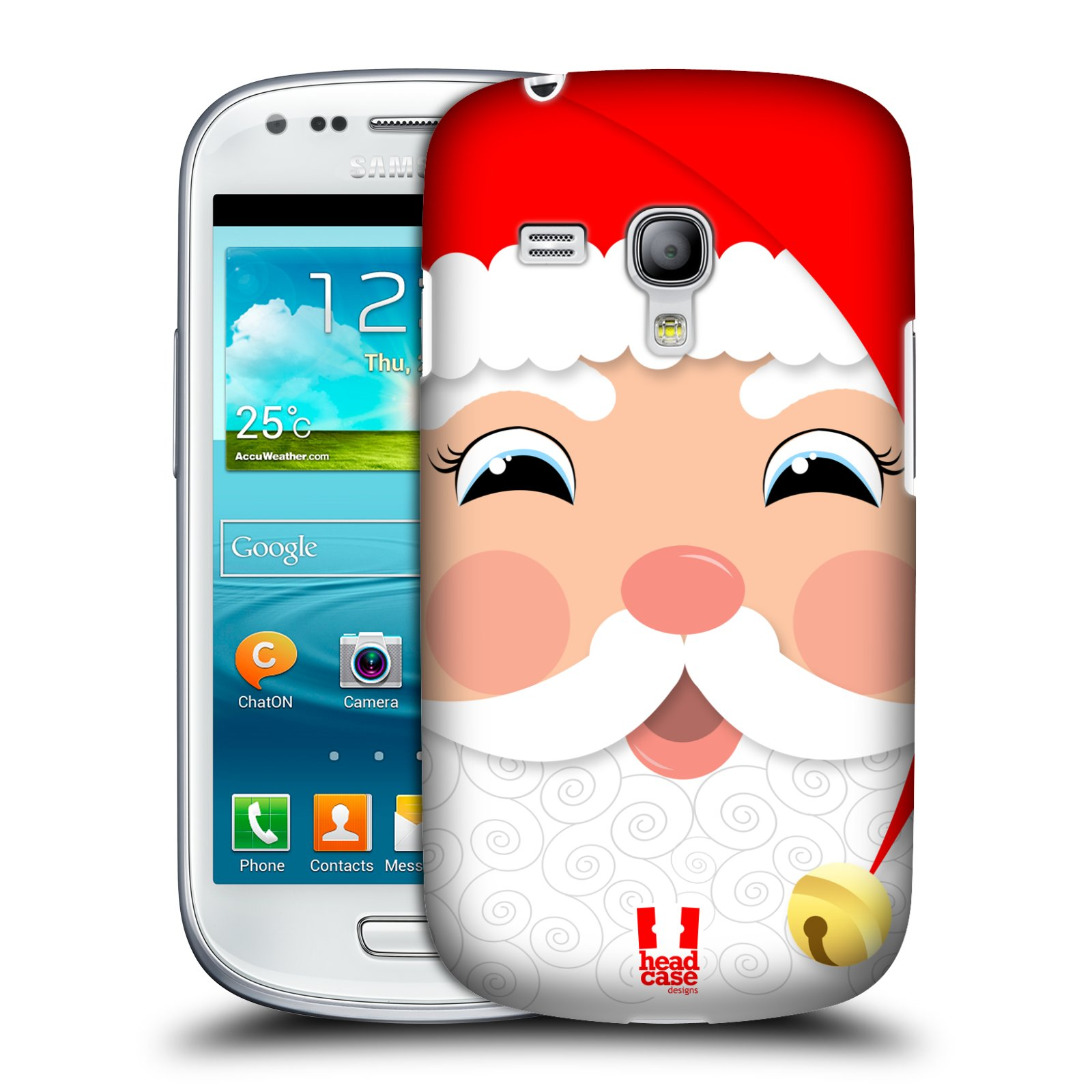 Plastové pouzdro na mobil Samsung Galaxy S III Mini HEAD CASE VÁNOCE SANTA (Kryt či obal na mobilní telefon Samsung Galaxy S III Mini GT-i8190)