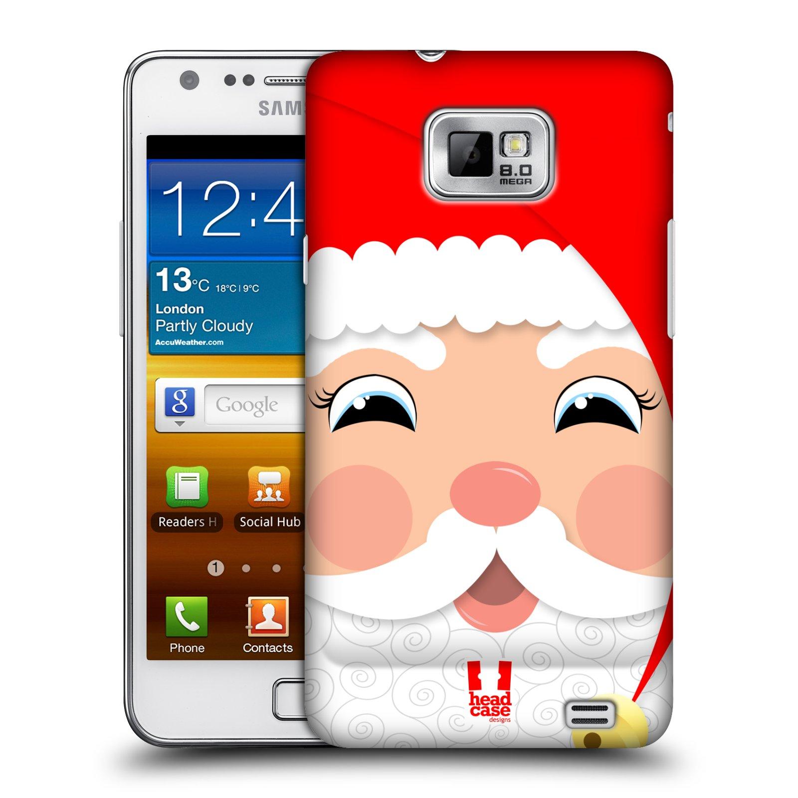 Plastové pouzdro na mobil Samsung Galaxy S II HEAD CASE VÁNOCE SANTA (Kryt či obal na mobilní telefon Samsung Galaxy S II GT-i9100)