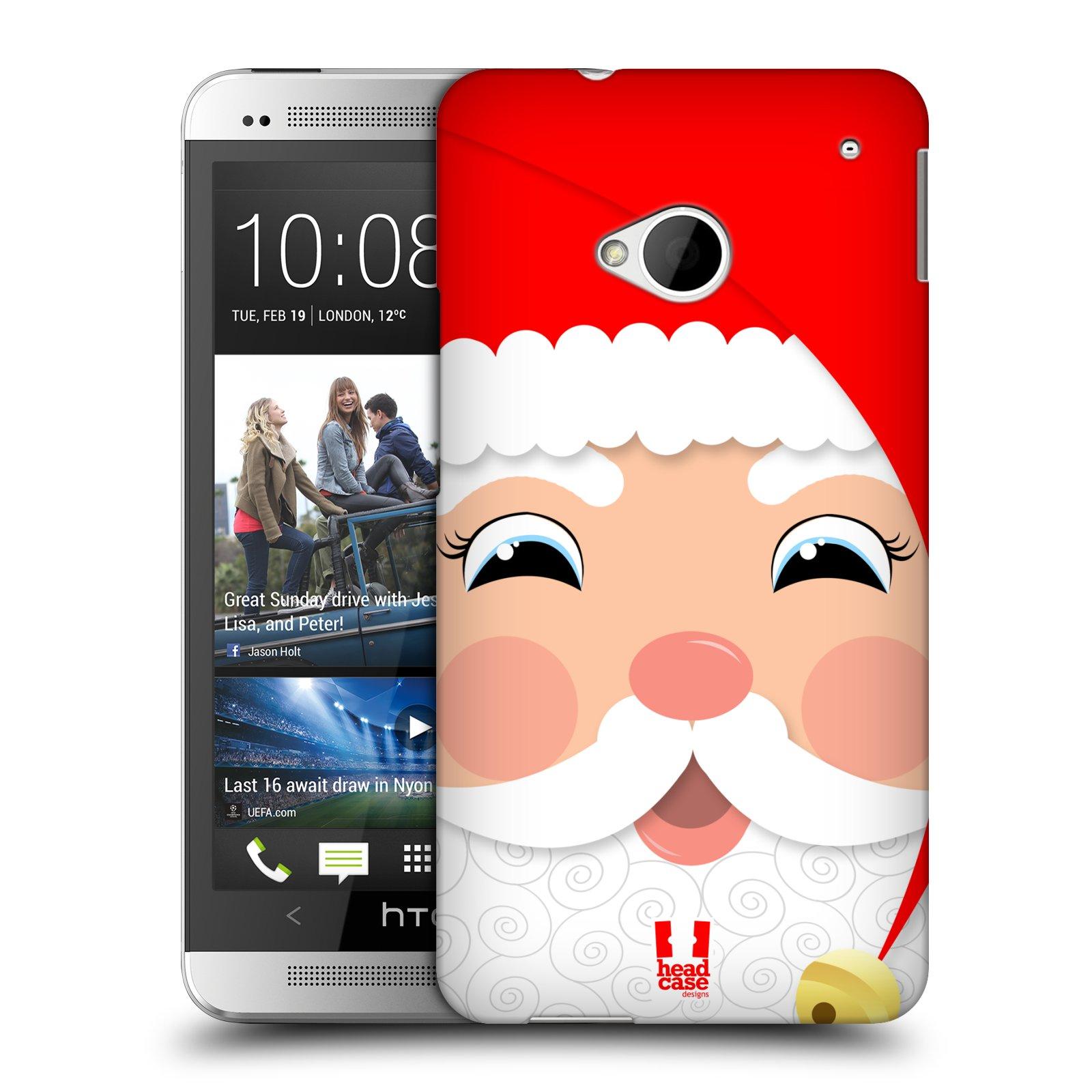 Plastové pouzdro na mobil HTC ONE M7 HEAD CASE VÁNOCE SANTA (Kryt či obal na mobilní telefon HTC ONE M7)