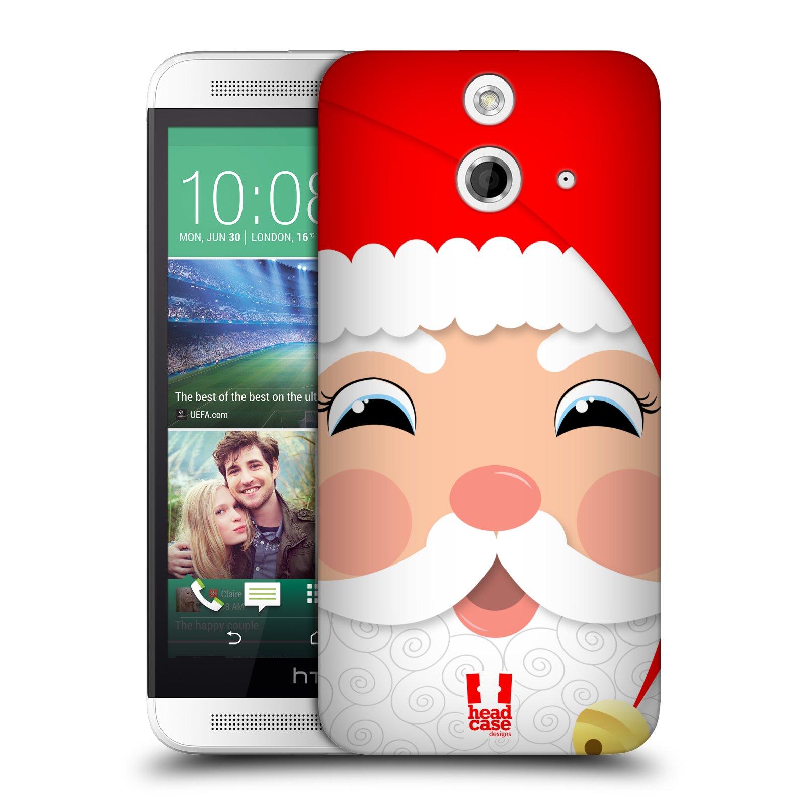 Plastové pouzdro na mobil HTC ONE E8 HEAD CASE VÁNOCE SANTA (Kryt či obal na mobilní telefon HTC ONE E8)
