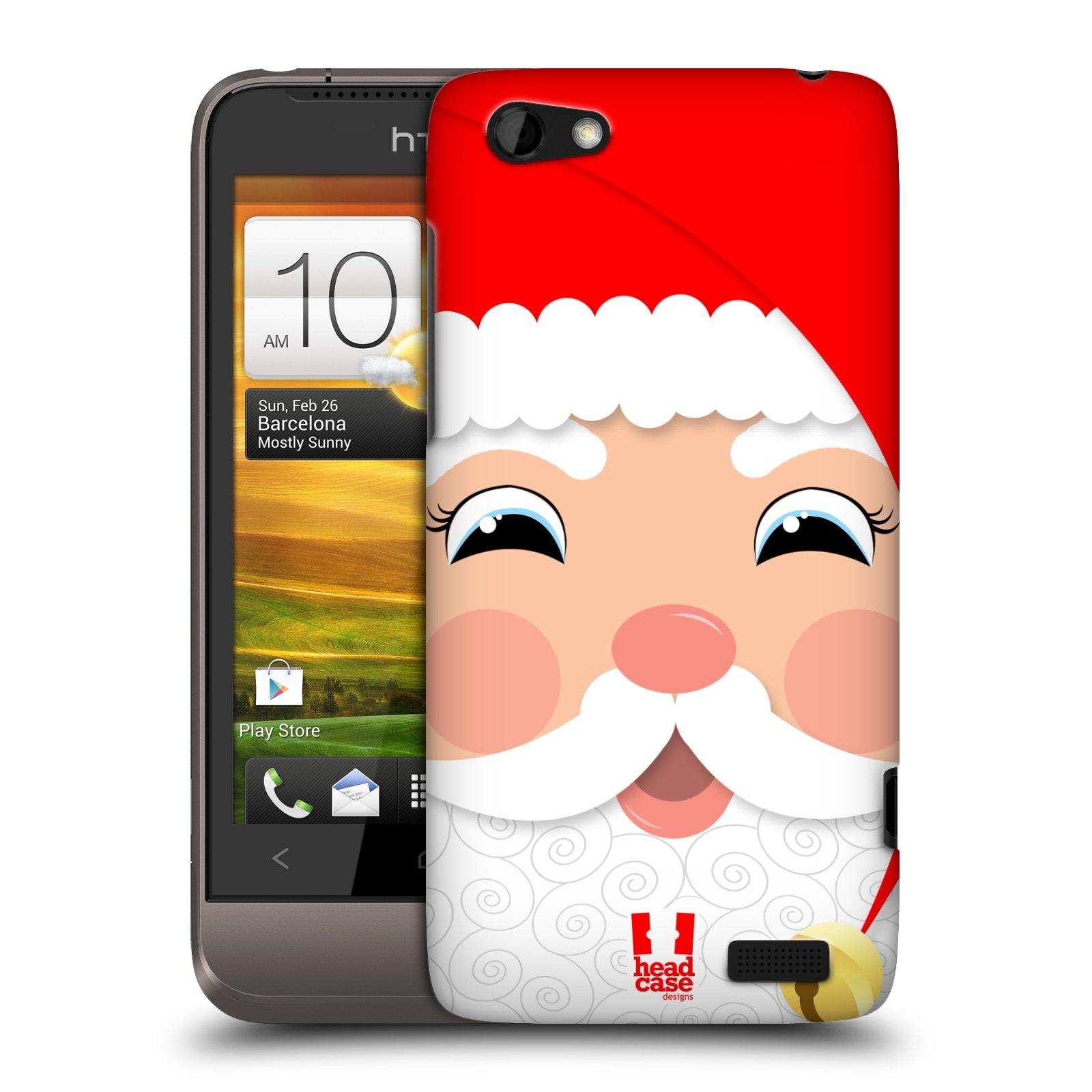 Plastové pouzdro na mobil HTC ONE V HEAD CASE VÁNOCE SANTA (Kryt či obal na mobilní telefon HTC ONE V)
