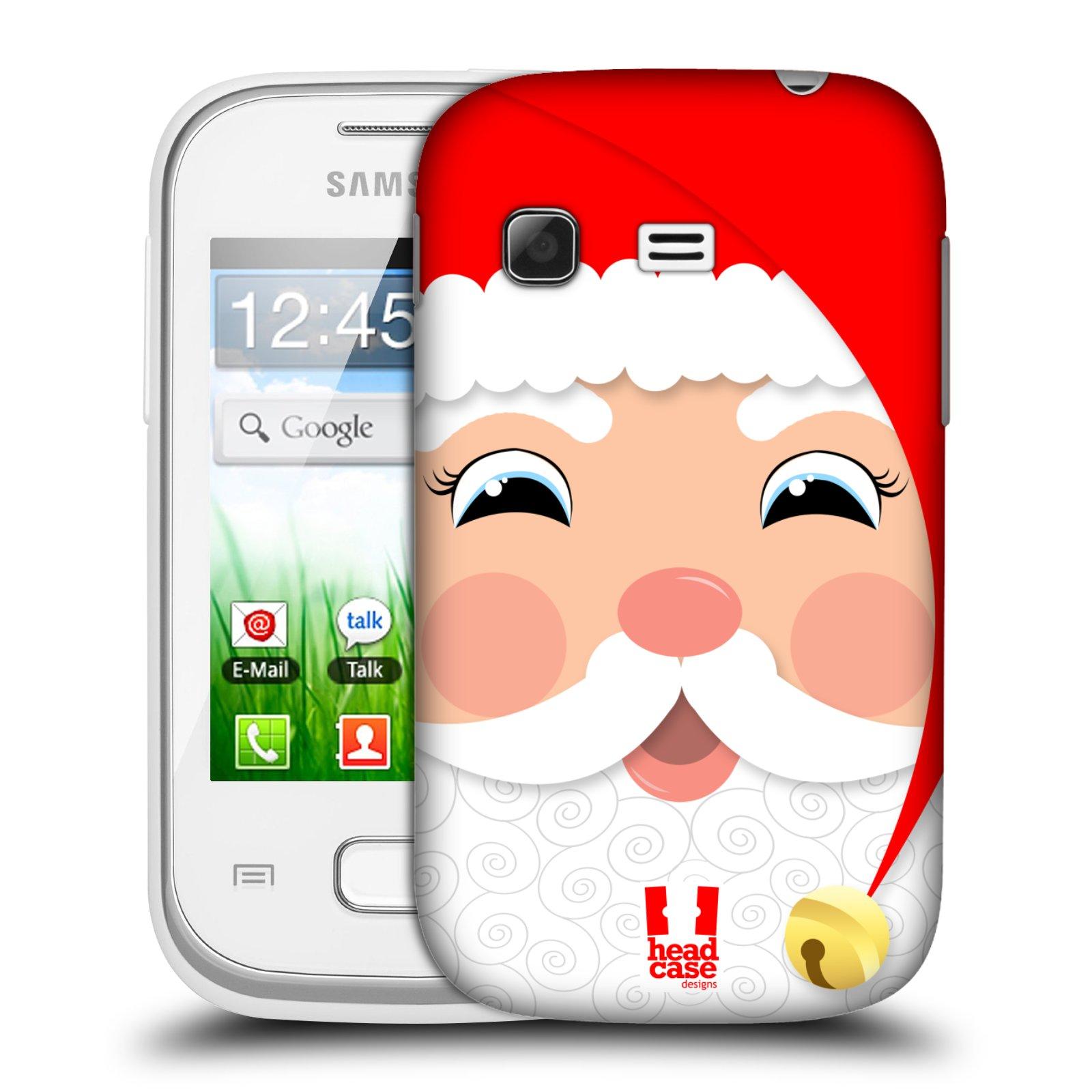 Plastové pouzdro na mobil Samsung Galaxy Pocket HEAD CASE VÁNOCE SANTA (Kryt či obal na mobilní telefon Samsung Galaxy Pocket GT-S5300)