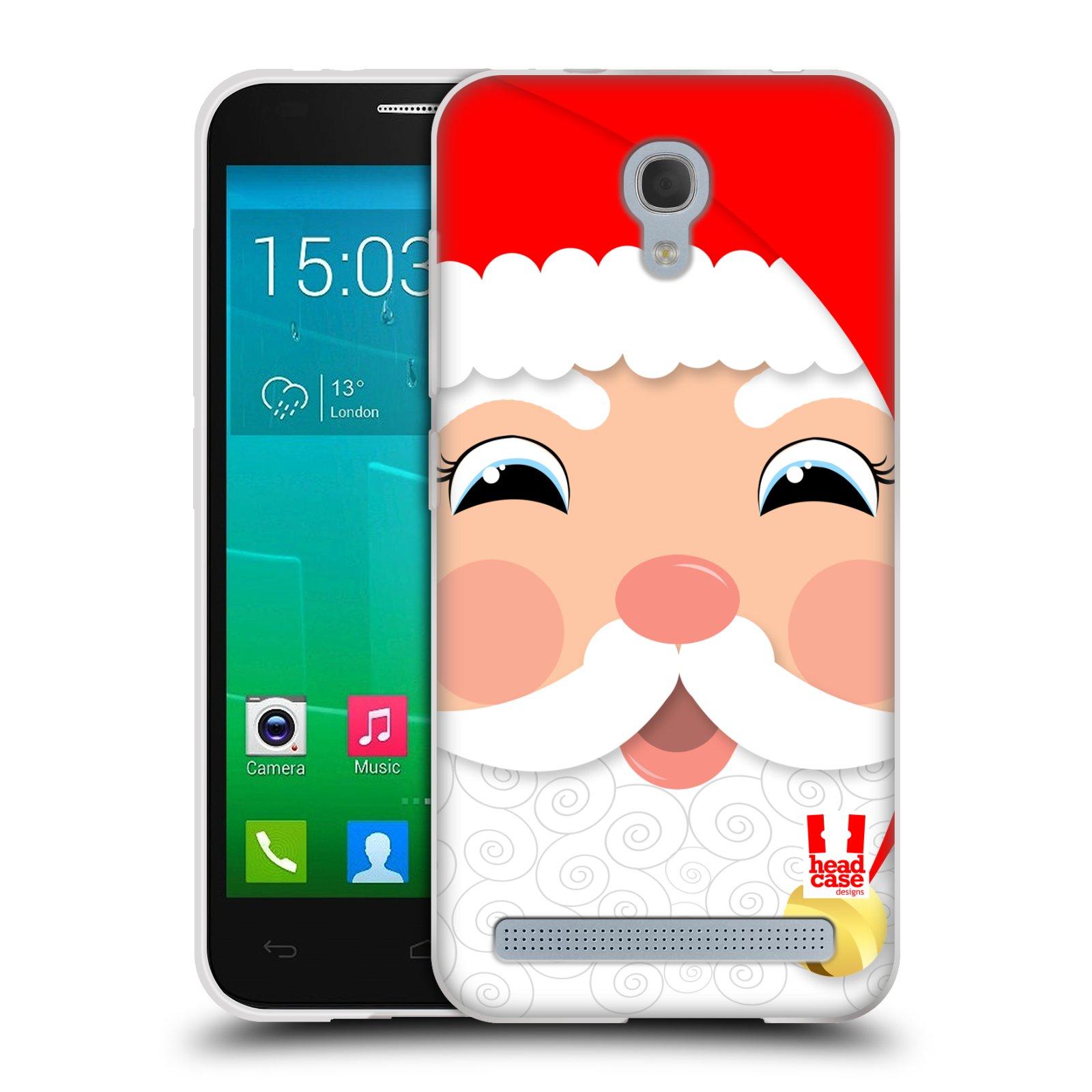 Silikonové pouzdro na mobil Alcatel One Touch Idol 2 Mini S 6036Y HEAD CASE VÁNOCE SANTA (Silikonový kryt či obal na mobilní telefon Alcatel Idol 2 Mini S OT-6036Y)