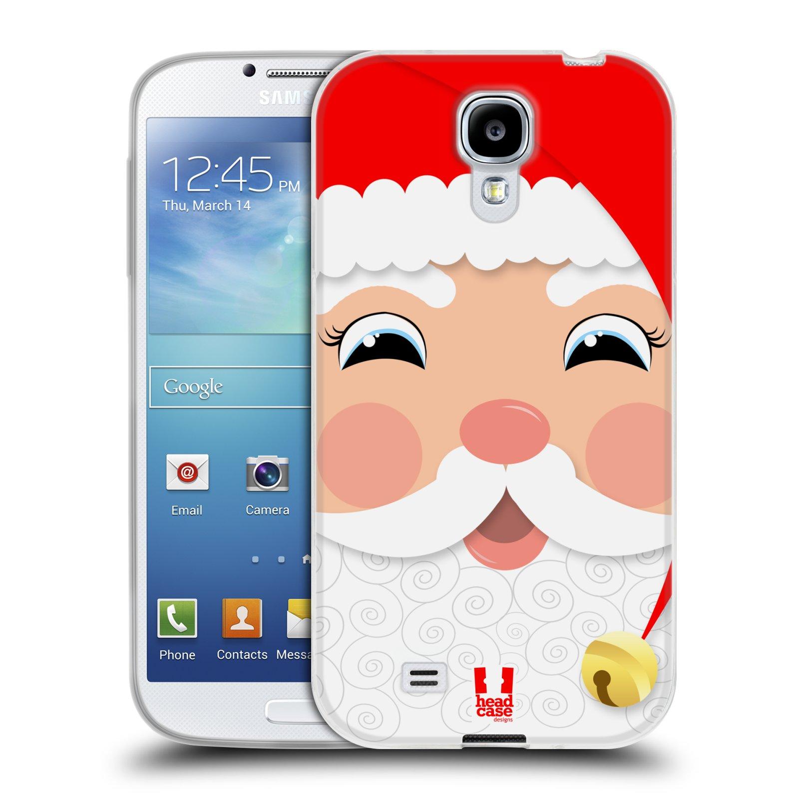 Silikonové pouzdro na mobil Samsung Galaxy S4 HEAD CASE VÁNOCE SANTA (Silikonový kryt či obal na mobilní telefon Samsung Galaxy S4 GT-i9505 / i9500)