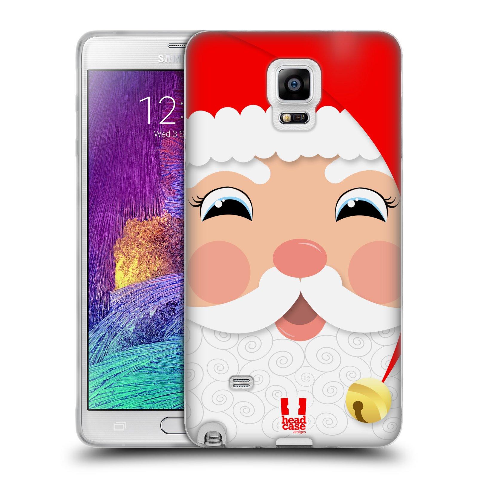 Silikonové pouzdro na mobil Samsung Galaxy Note 4 HEAD CASE VÁNOCE SANTA (Silikonový kryt či obal na mobilní telefon Samsung Galaxy Note 4 SM-N910F)