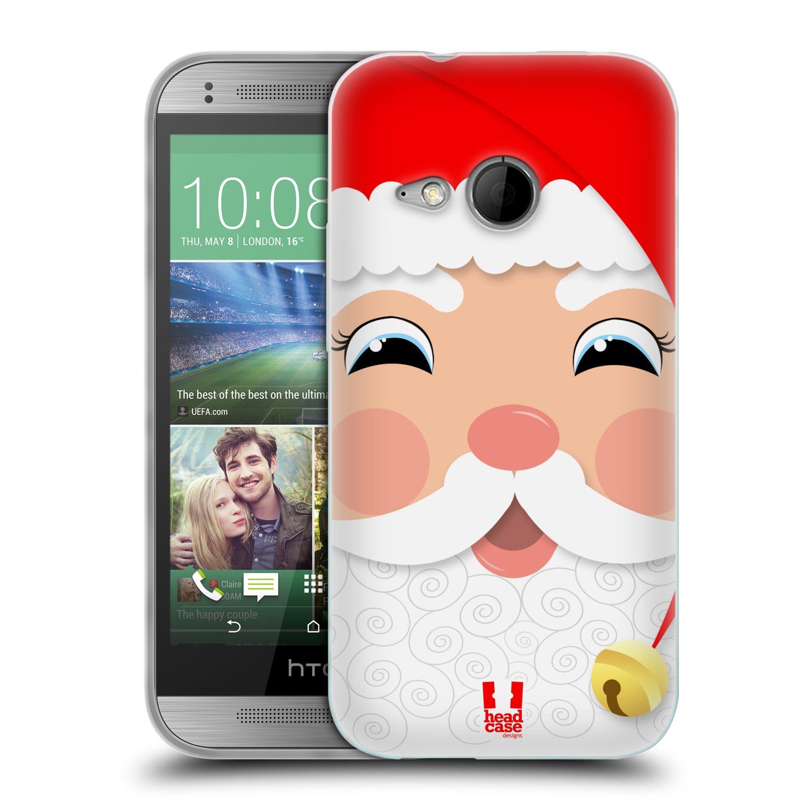 Silikonové pouzdro na mobil HTC ONE Mini 2 HEAD CASE VÁNOCE SANTA (Silikonový kryt či obal na mobilní telefon HTC ONE Mini 2)