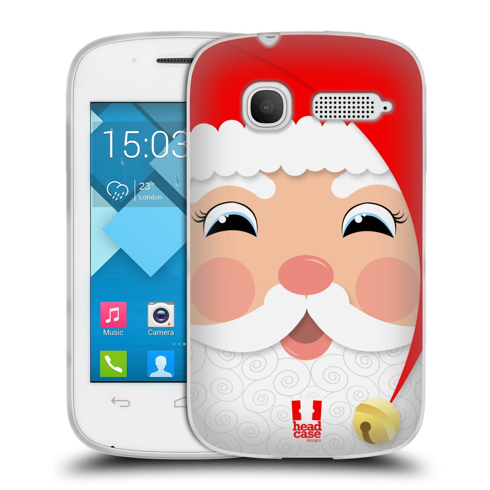 Silikonové pouzdro na mobil Alcatel One Touch Pop C1 HEAD CASE VÁNOCE SANTA (Silikonový kryt či obal na mobilní telefon Alcatel OT-4015D POP C1)