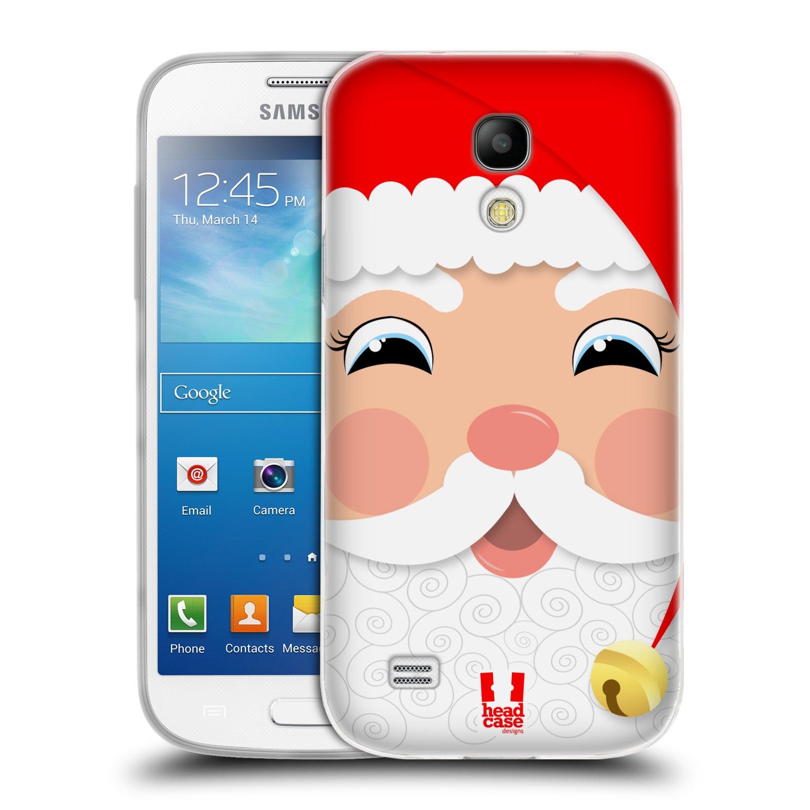Silikonové pouzdro na mobil Samsung Galaxy S4 Mini HEAD CASE VÁNOCE SANTA (Silikonový kryt či obal na mobilní telefon Samsung Galaxy S4 Mini GT-i9195 / i9190 (nepasuje na verzi Black Edition))