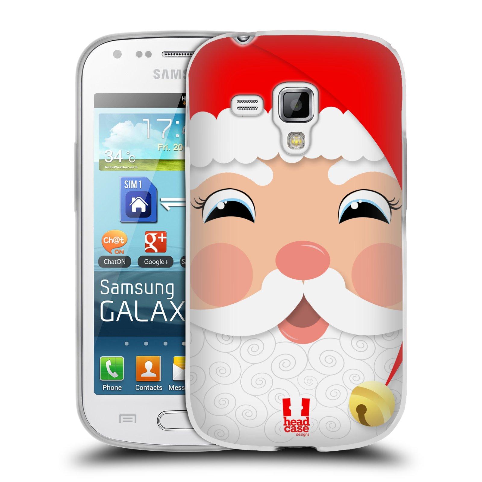 Silikonové pouzdro na mobil Samsung Galaxy Trend HEAD CASE VÁNOCE SANTA (Silikonový kryt či obal na mobilní telefon Samsung Galaxy Trend GT-S7560)