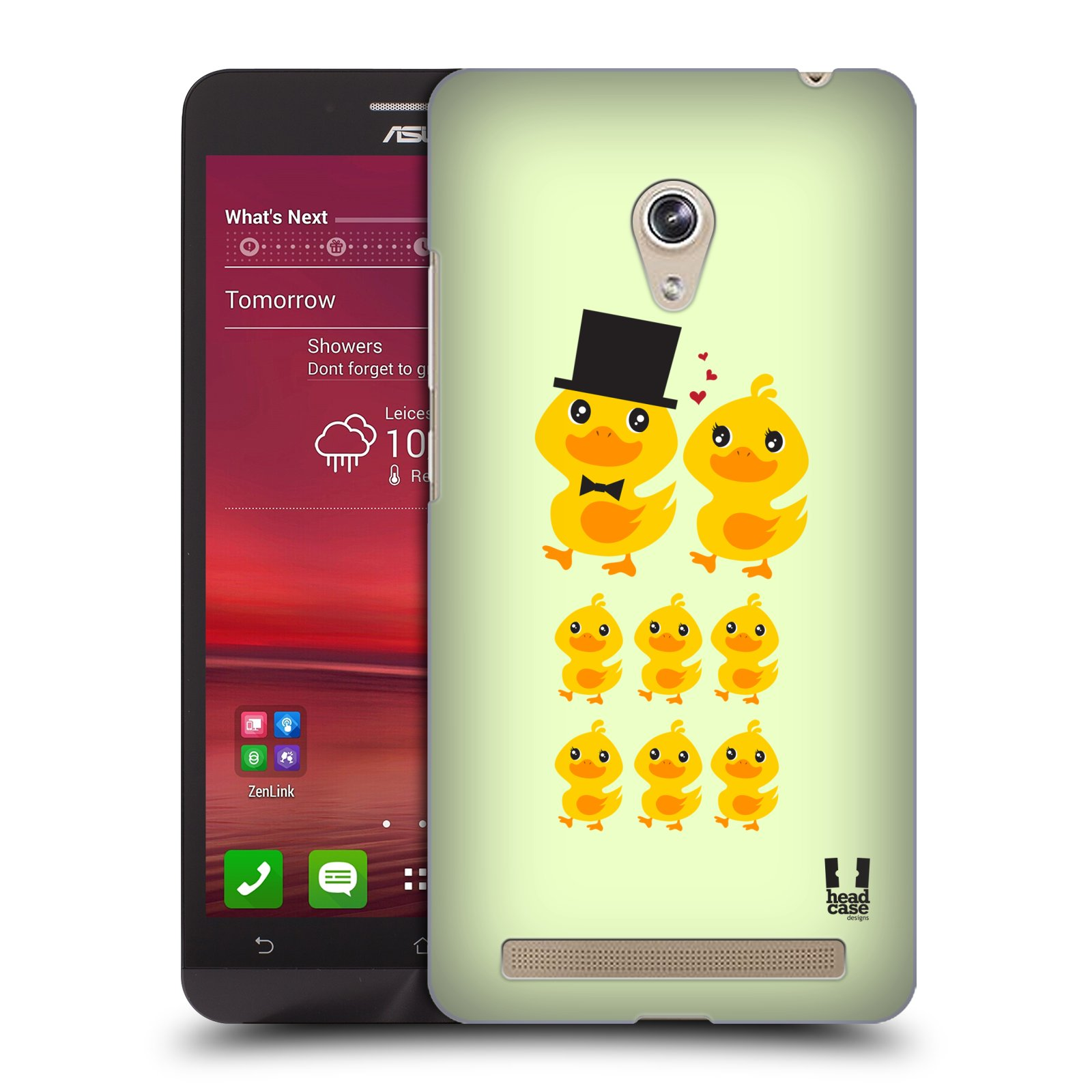 Plastové pouzdro na mobil Asus Zenfone 6 HEAD CASE KACHNÍ RODINKA (Kryt či obal na mobilní telefon Asus Zenfone 6 A600CG / A601CG)