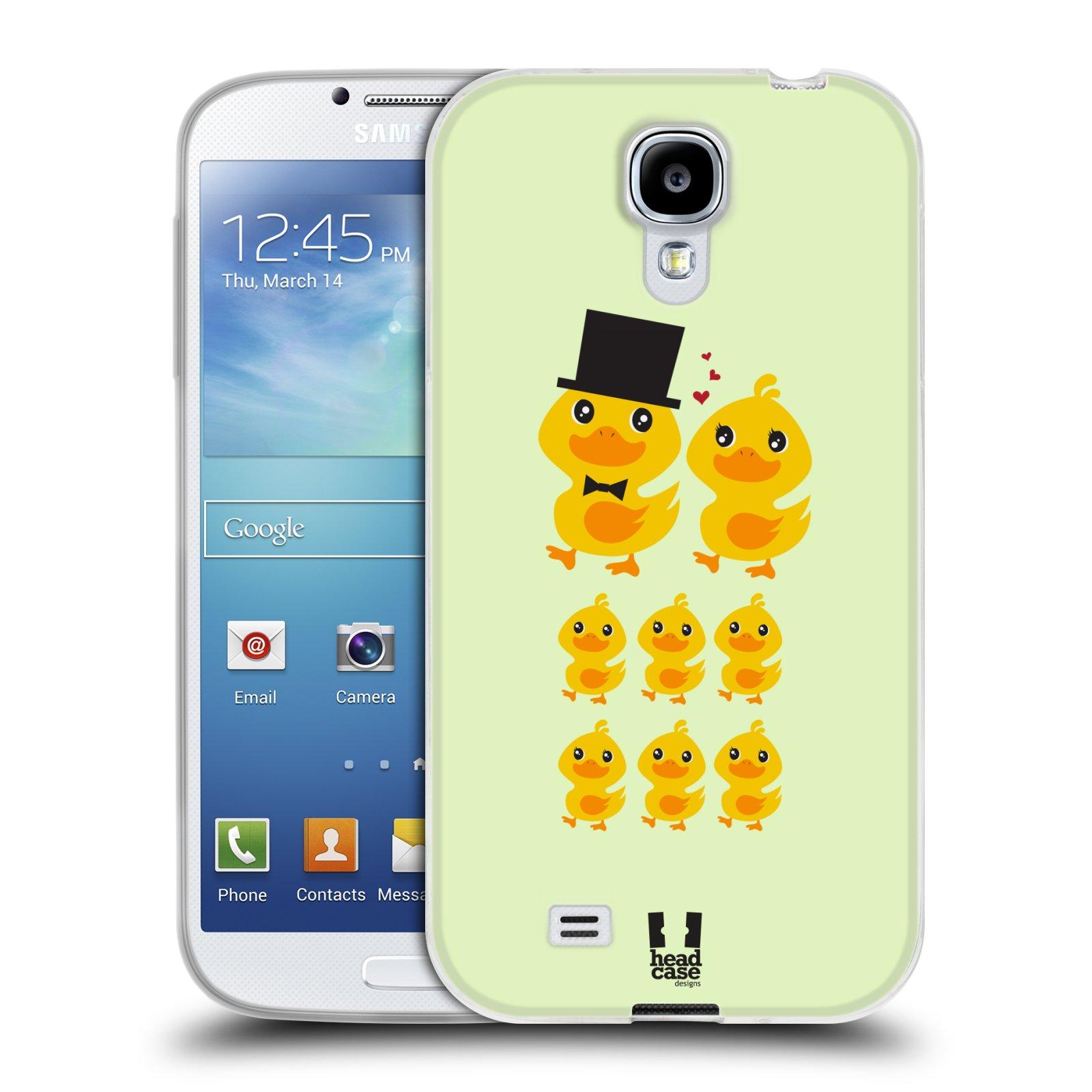 Silikonové pouzdro na mobil Samsung Galaxy S4 HEAD CASE KACHNÍ RODINKA (Silikonový kryt či obal na mobilní telefon Samsung Galaxy S4 GT-i9505 / i9500)