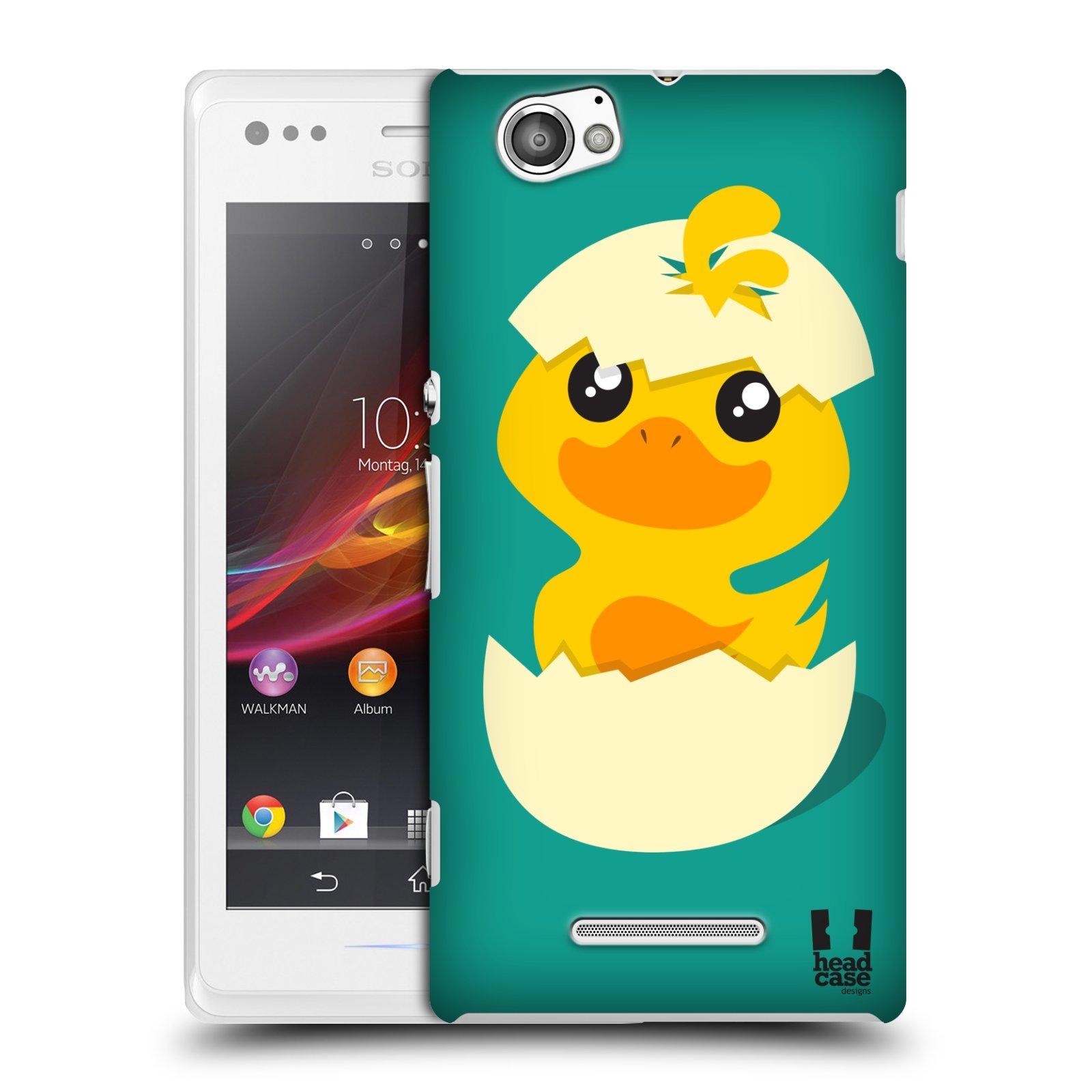 Plastové pouzdro na mobil Sony Xperia M C1905 HEAD CASE KACHNIČKA Z VAJÍČKA (Kryt či obal na mobilní telefon Sony Xperia M a M Dual)