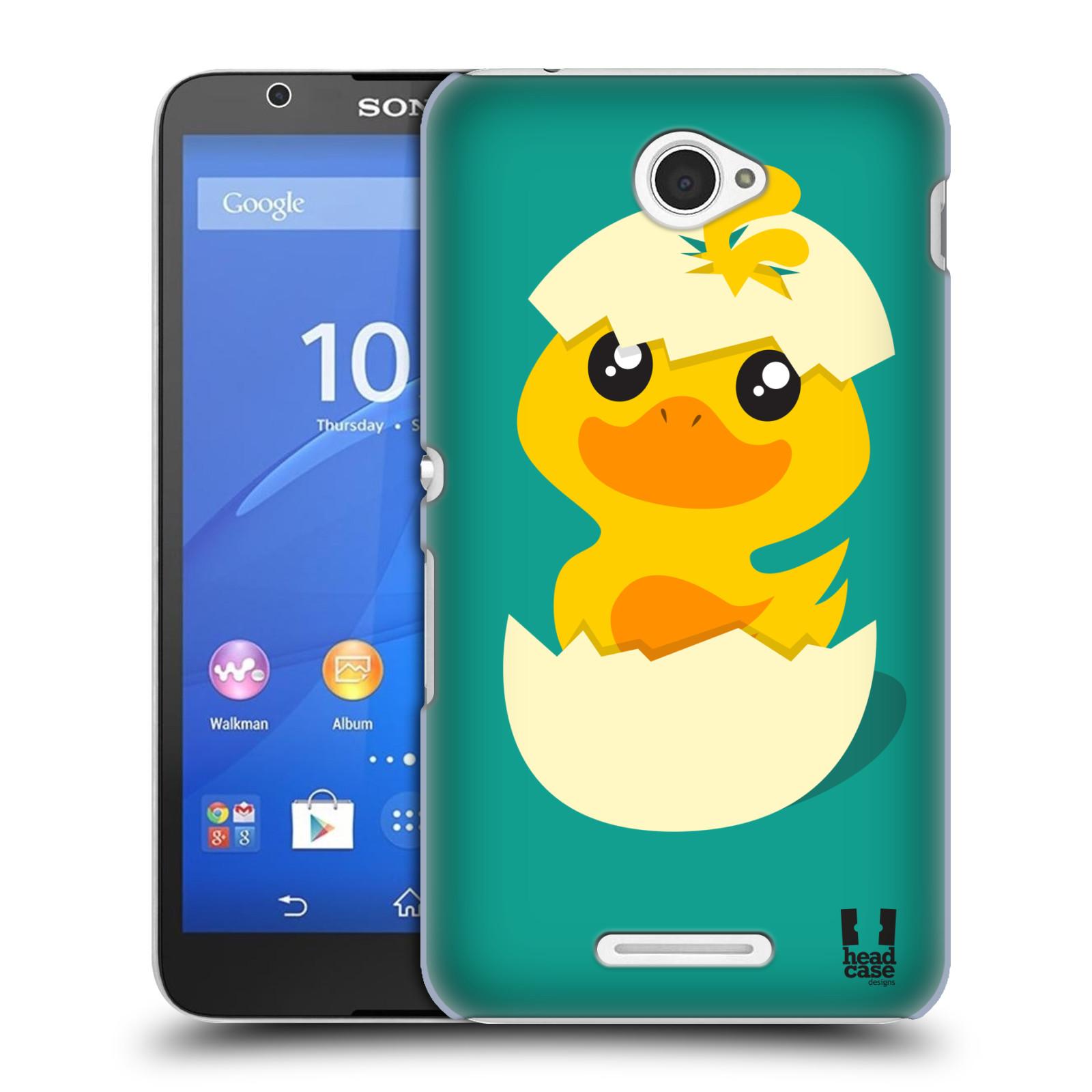 Plastové pouzdro na mobil Sony Xperia E4 E2105 HEAD CASE KACHNIČKA Z VAJÍČKA (Kryt či obal na mobilní telefon Sony Xperia E4 a E4 Dual SIM)