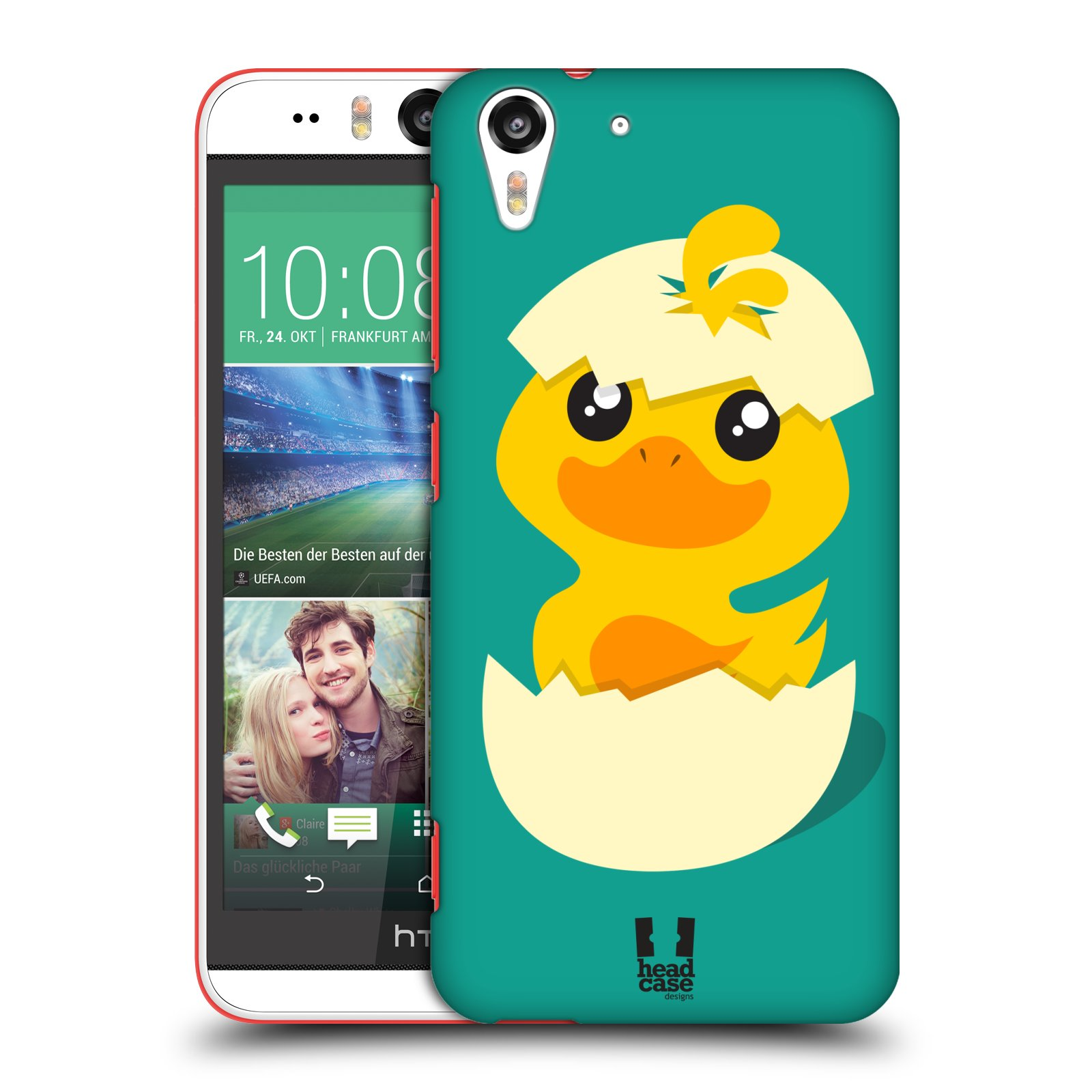 Plastové pouzdro na mobil HTC Desire EYE HEAD CASE KACHNIČKA Z VAJÍČKA (Kryt či obal na mobilní telefon HTC Desire EYE)