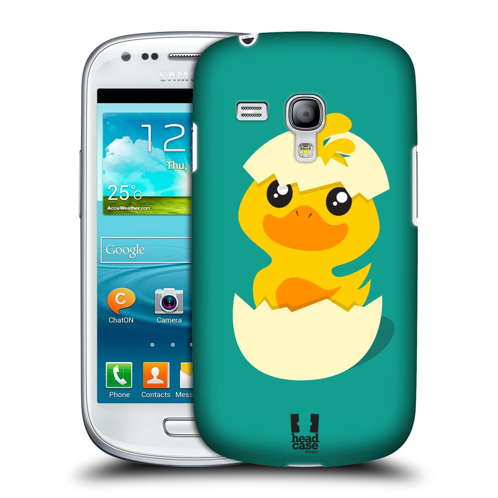 Plastové pouzdro na mobil Samsung Galaxy S III Mini HEAD CASE KACHNIČKA Z VAJÍČKA (Kryt či obal na mobilní telefon Samsung Galaxy S III Mini GT-i8190)