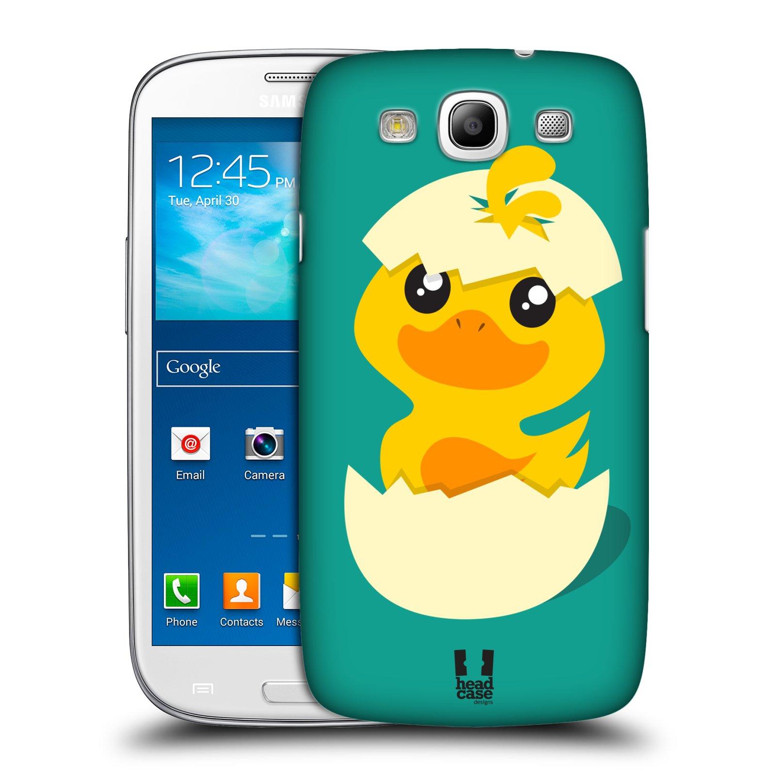 Plastové pouzdro na mobil Samsung Galaxy S III HEAD CASE KACHNIČKA Z VAJÍČKA (Kryt či obal na mobilní telefon Samsung Galaxy S III GT-i9300)