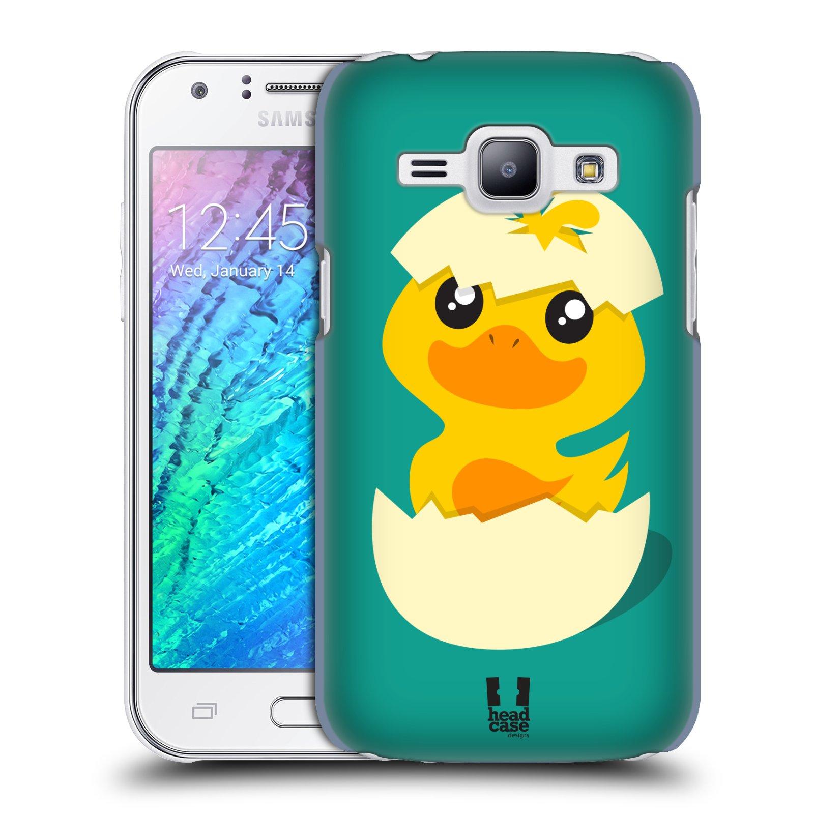 Plastové pouzdro na mobil Samsung Galaxy J1 HEAD CASE KACHNIČKA Z VAJÍČKA (Kryt či obal na mobilní telefon Samsung Galaxy J1 a J1 Duos )