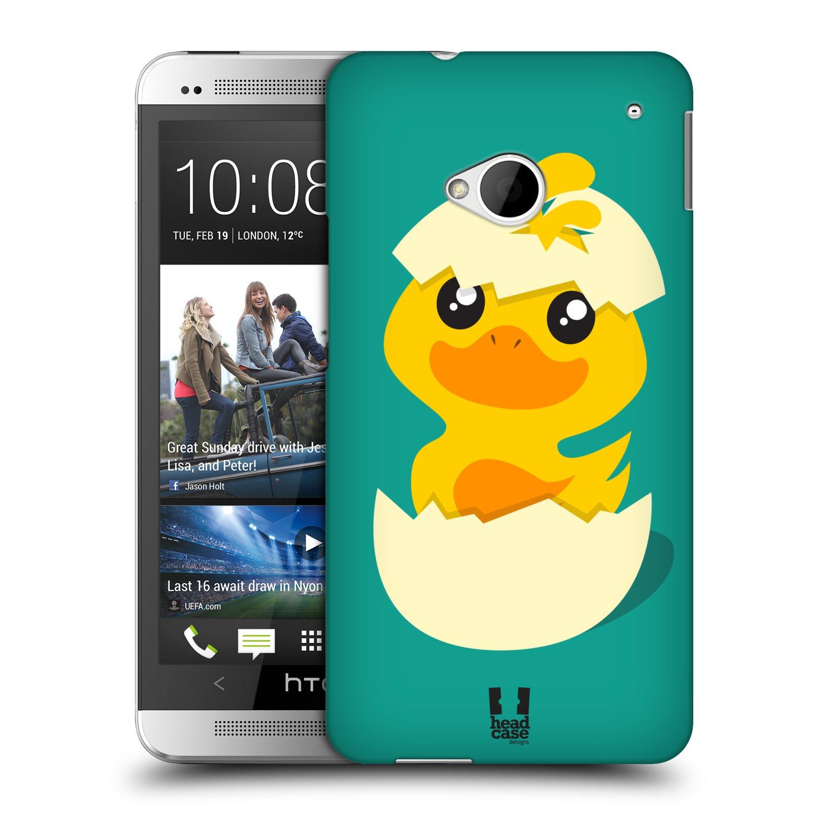 Plastové pouzdro na mobil HTC ONE M7 HEAD CASE KACHNIČKA Z VAJÍČKA (Kryt či obal na mobilní telefon HTC ONE M7)