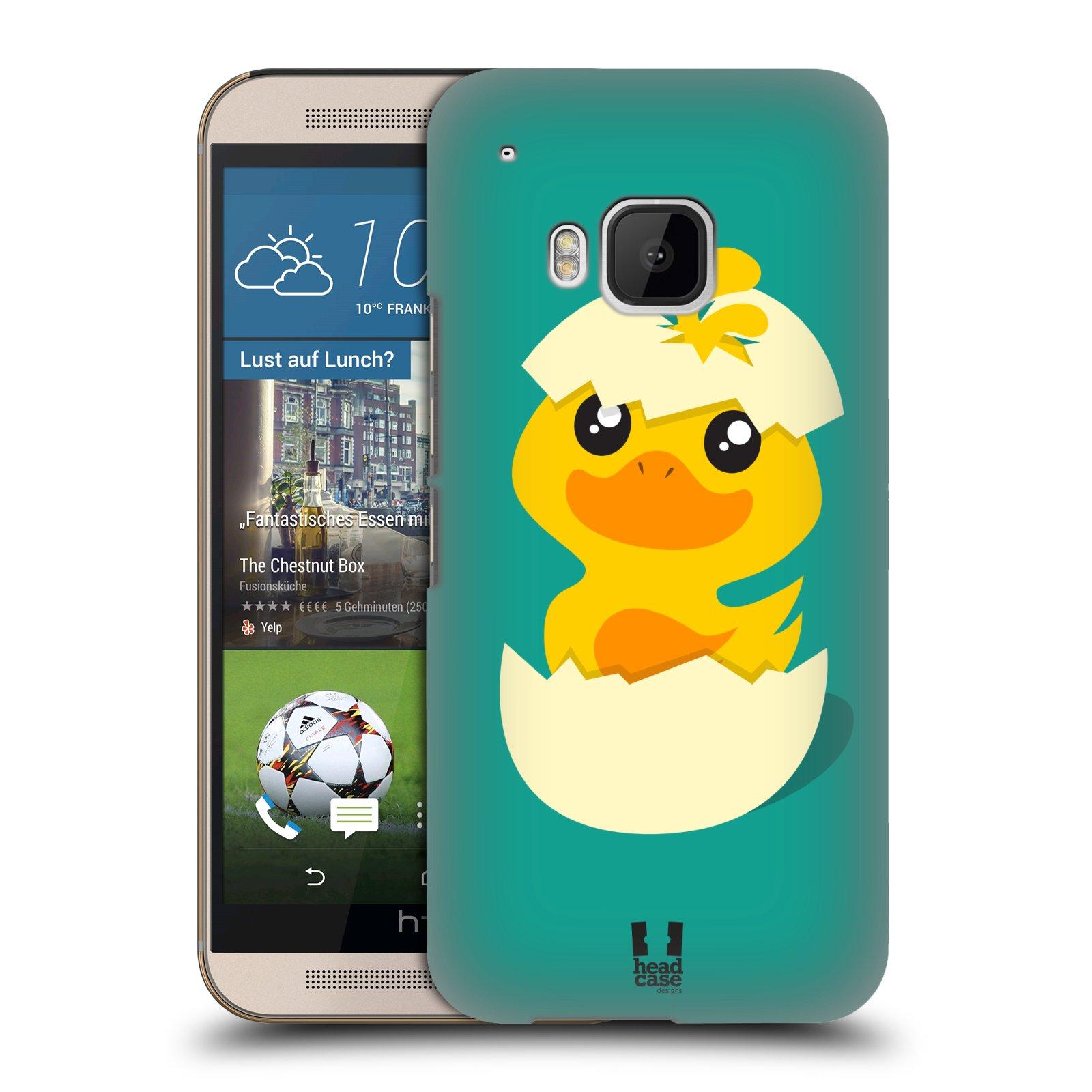 Plastové pouzdro na mobil HTC ONE M9 HEAD CASE KACHNIČKA Z VAJÍČKA (Kryt či obal na mobilní telefon HTC ONE M9)