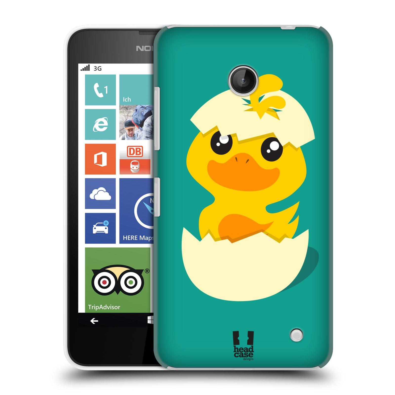 Plastové pouzdro na mobil Nokia Lumia 630 HEAD CASE KACHNIČKA Z VAJÍČKA (Kryt či obal na mobilní telefon Nokia Lumia 630 a Nokia Lumia 630 Dual SIM)
