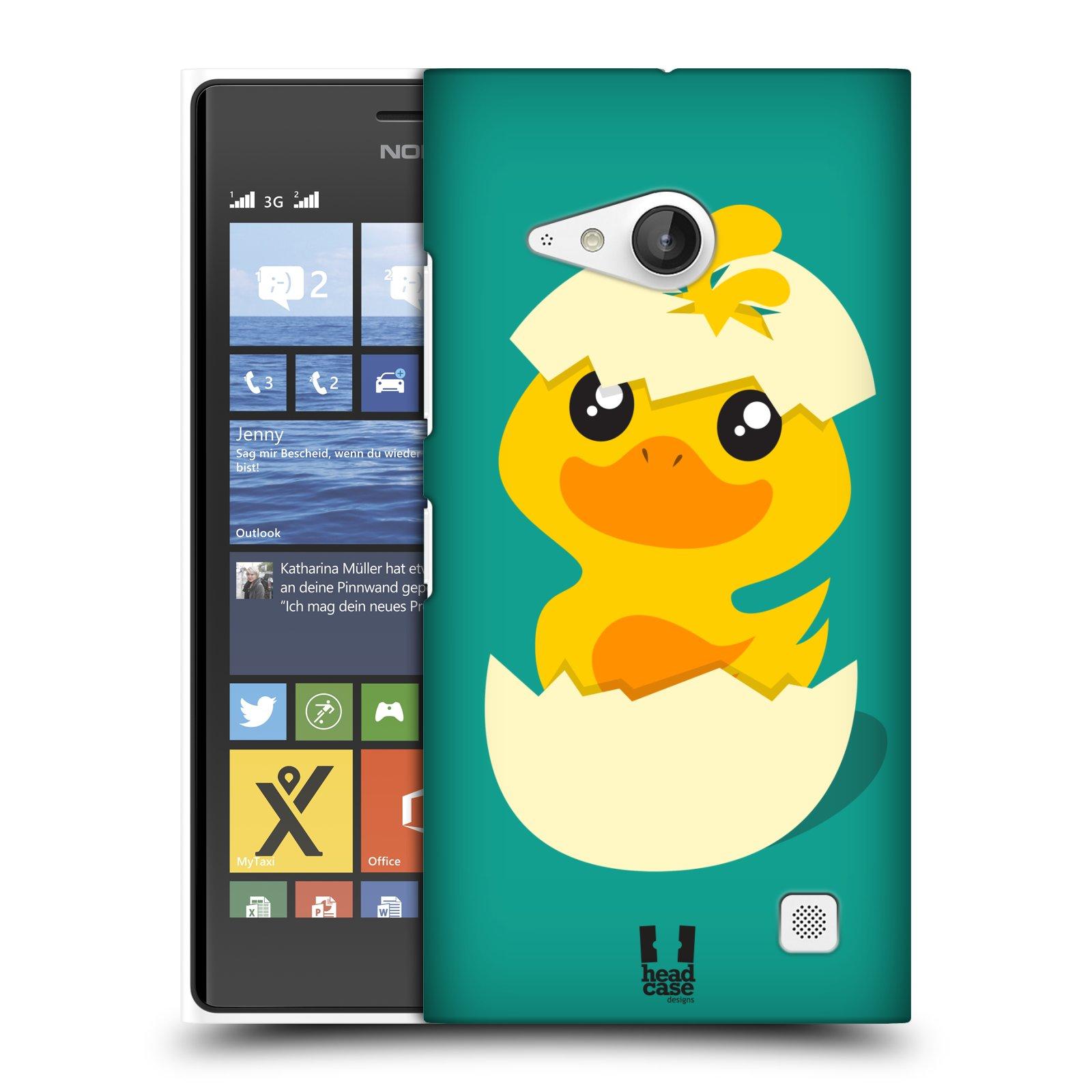 Plastové pouzdro na mobil Nokia Lumia 730 Dual SIM HEAD CASE KACHNIČKA Z VAJÍČKA (Kryt či obal na mobilní telefon Nokia Lumia 730 Dual SIM)