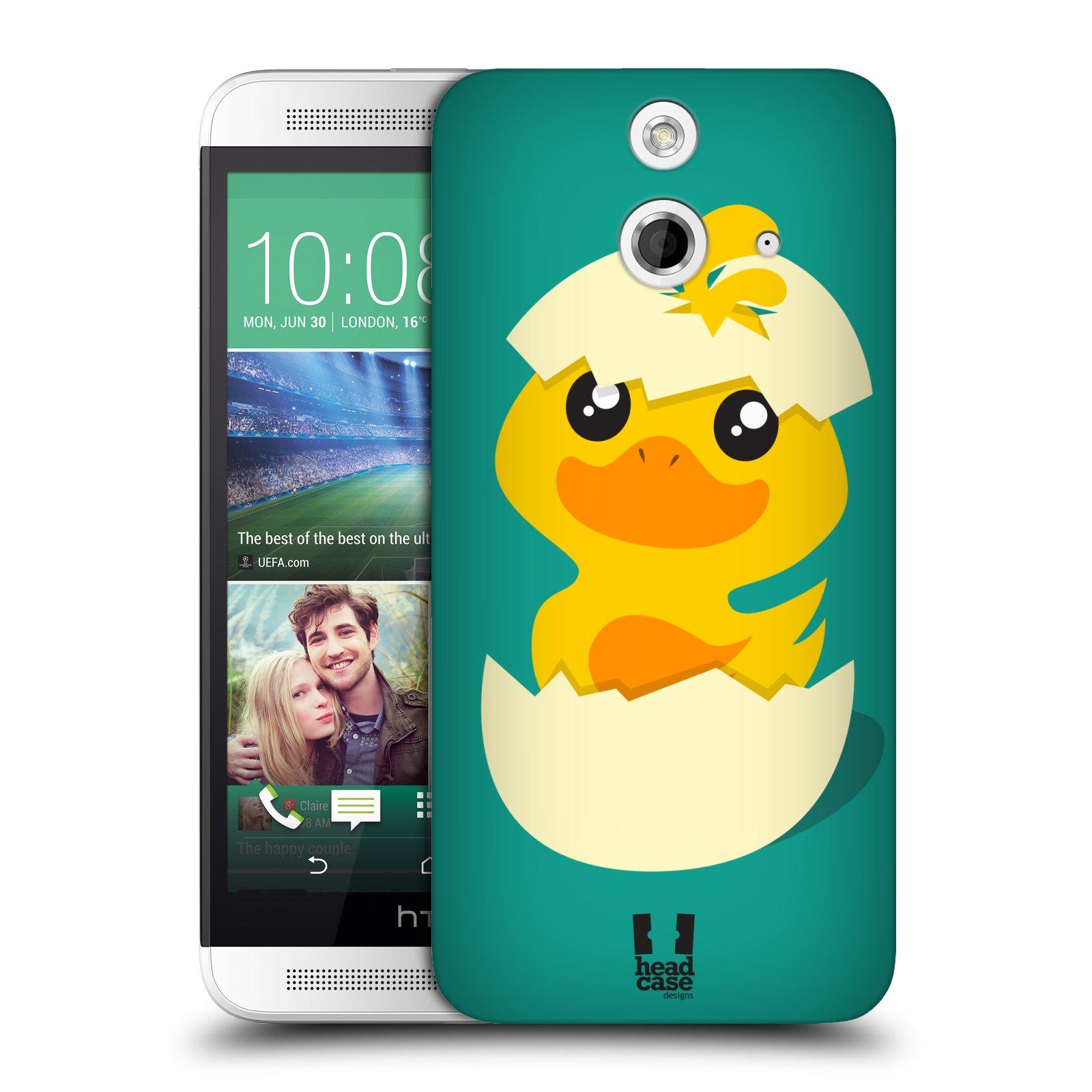 Plastové pouzdro na mobil HTC ONE E8 HEAD CASE KACHNIČKA Z VAJÍČKA (Kryt či obal na mobilní telefon HTC ONE E8)