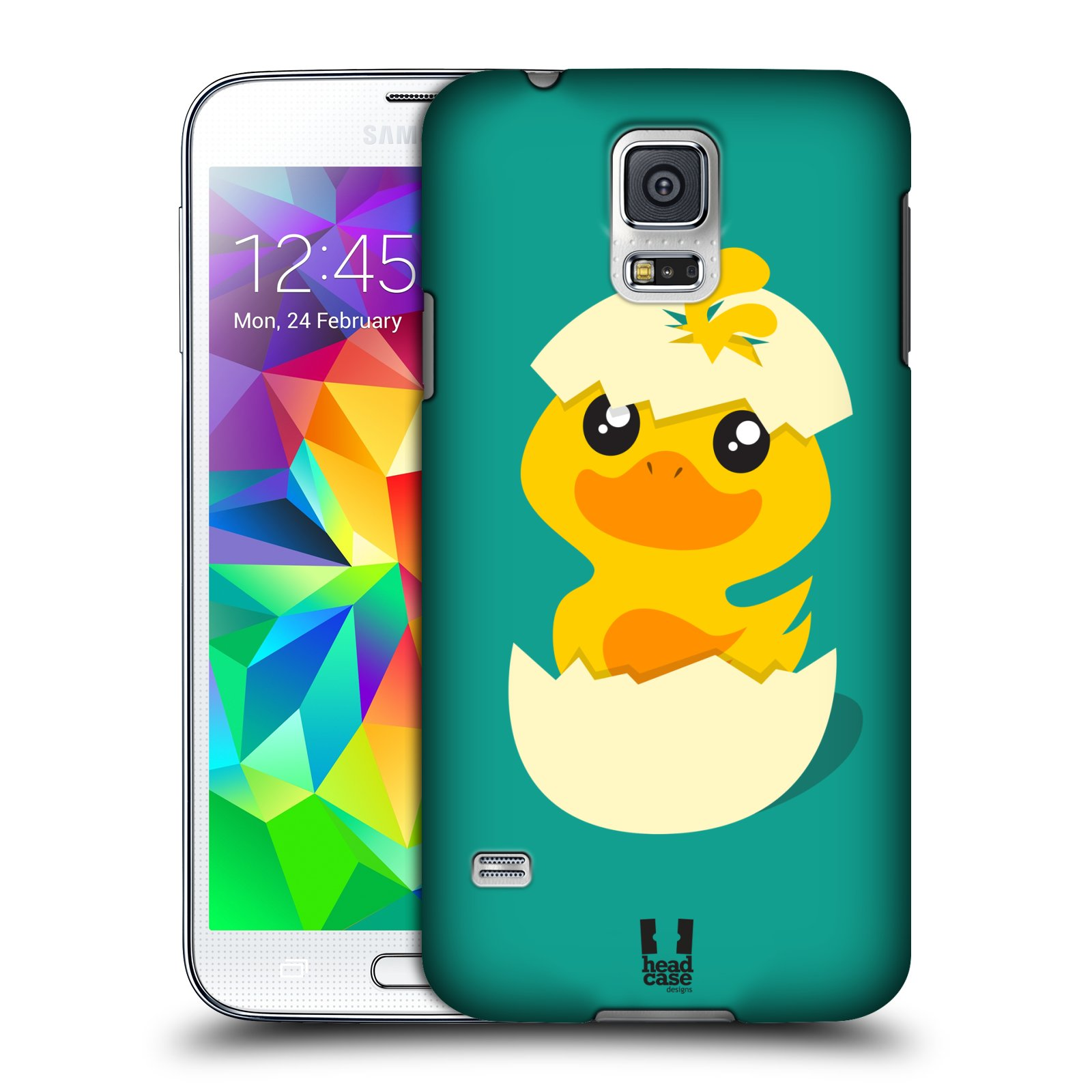 Plastové pouzdro na mobil Samsung Galaxy S5 HEAD CASE KACHNIČKA Z VAJÍČKA (Kryt či obal na mobilní telefon Samsung Galaxy S5 SM-G900F)