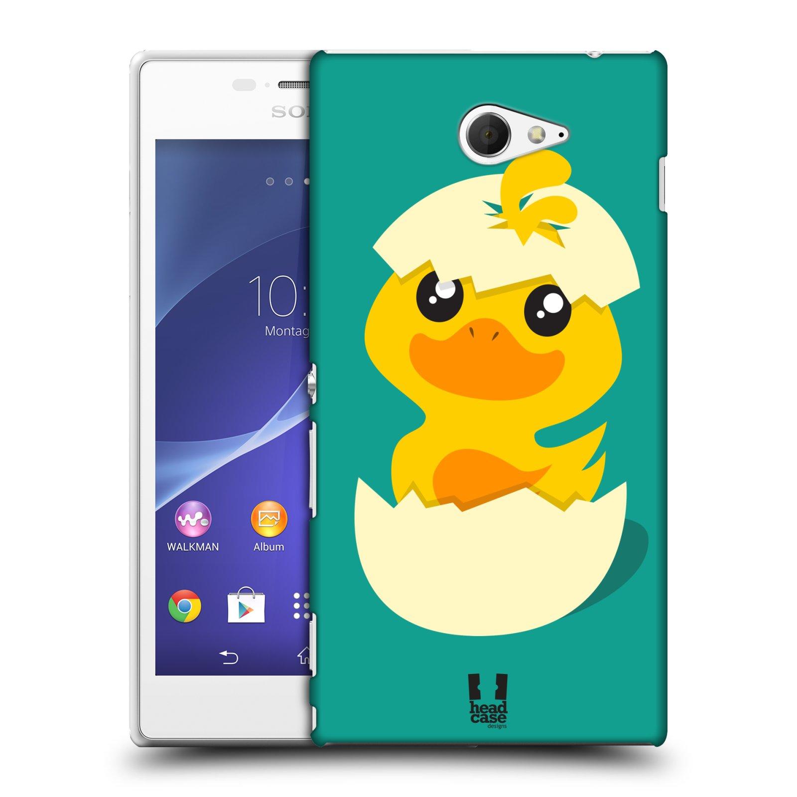 Plastové pouzdro na mobil Sony Xperia M2 D2303 HEAD CASE KACHNIČKA Z VAJÍČKA (Kryt či obal na mobilní telefon Sony Xperia M2 )
