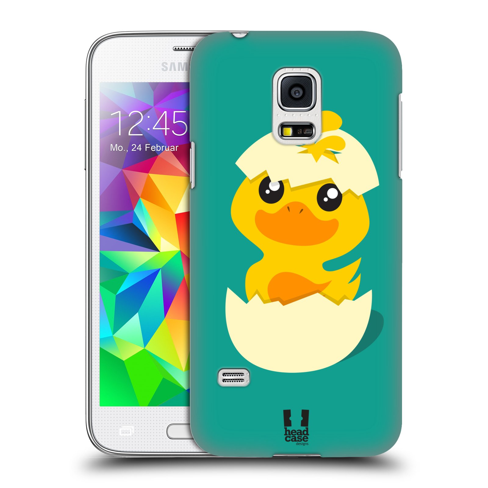 Plastové pouzdro na mobil Samsung Galaxy S5 Mini HEAD CASE KACHNIČKA Z VAJÍČKA (Kryt či obal na mobilní telefon Samsung Galaxy S5 Mini SM-G800F)