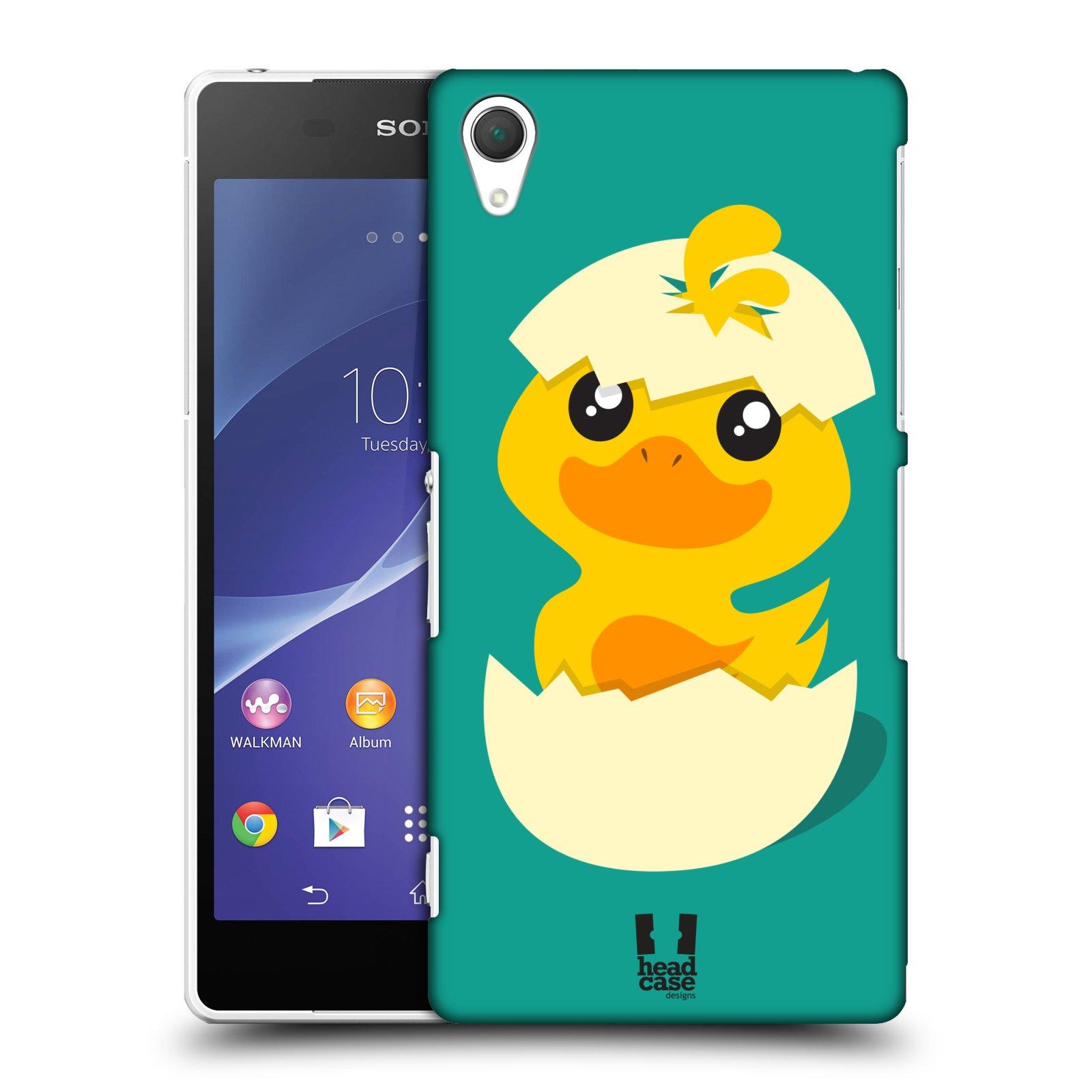 Plastové pouzdro na mobil Sony Xperia Z2 D6503 HEAD CASE KACHNIČKA Z VAJÍČKA (Kryt či obal na mobilní telefon Sony Xperia Z2 )