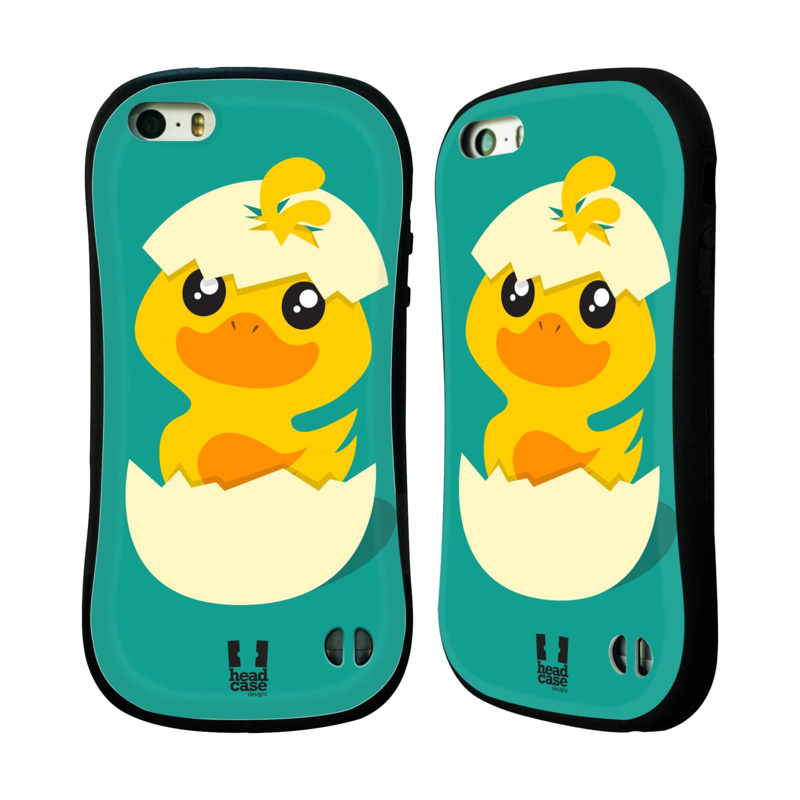 Nárazuvzdorné pouzdro na mobil Apple iPhone SE, 5 a 5S HEAD CASE KACHNIČKA Z VAJÍČKA (Odolný nárazuvzdorný silikonový kryt či obal na mobilní telefon Apple iPhone SE, 5 a 5S)