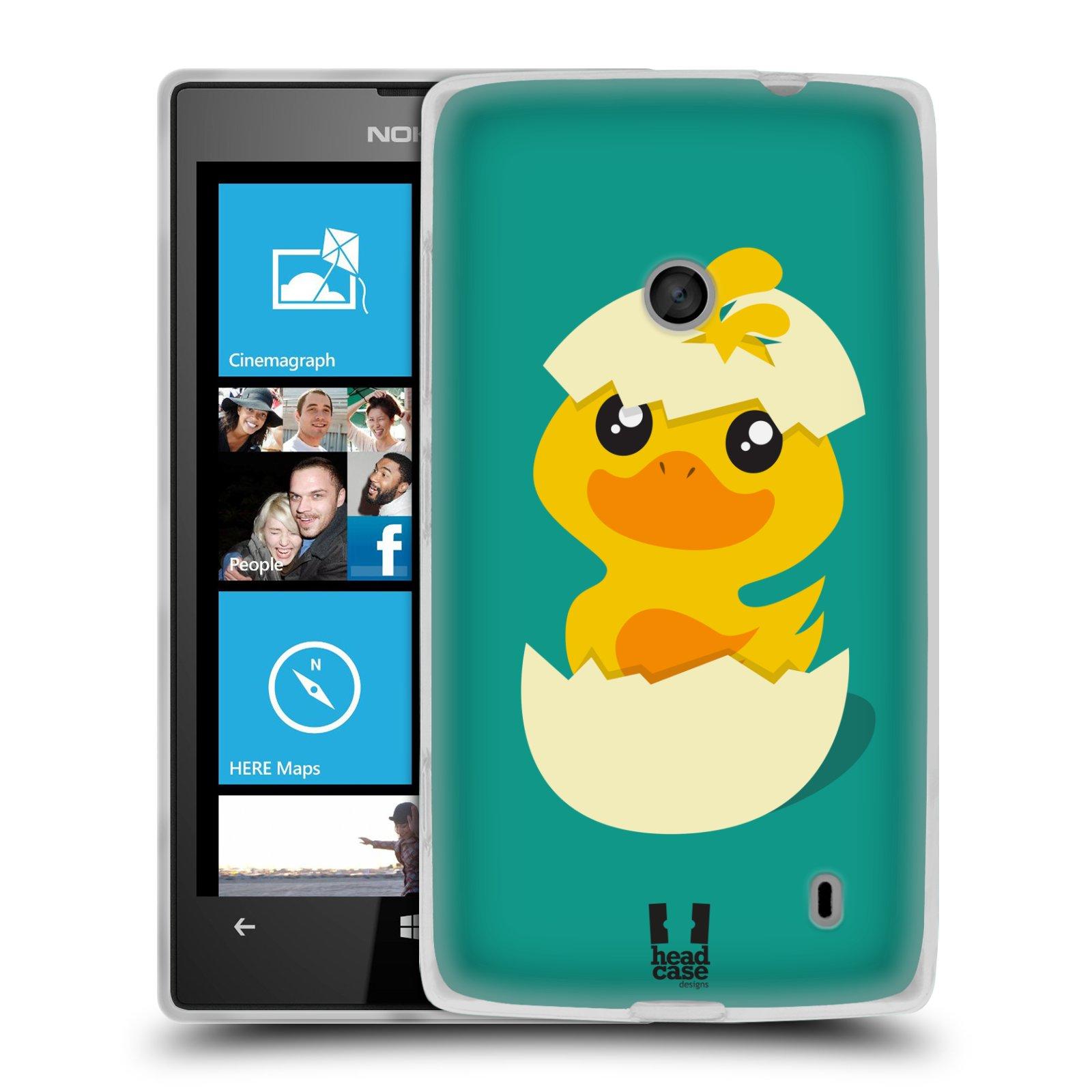 Silikonové pouzdro na mobil Nokia Lumia 520 HEAD CASE KACHNIČKA Z VAJÍČKA (Silikonový Kryt či obal na mobilní telefon Nokia Lumia 520)