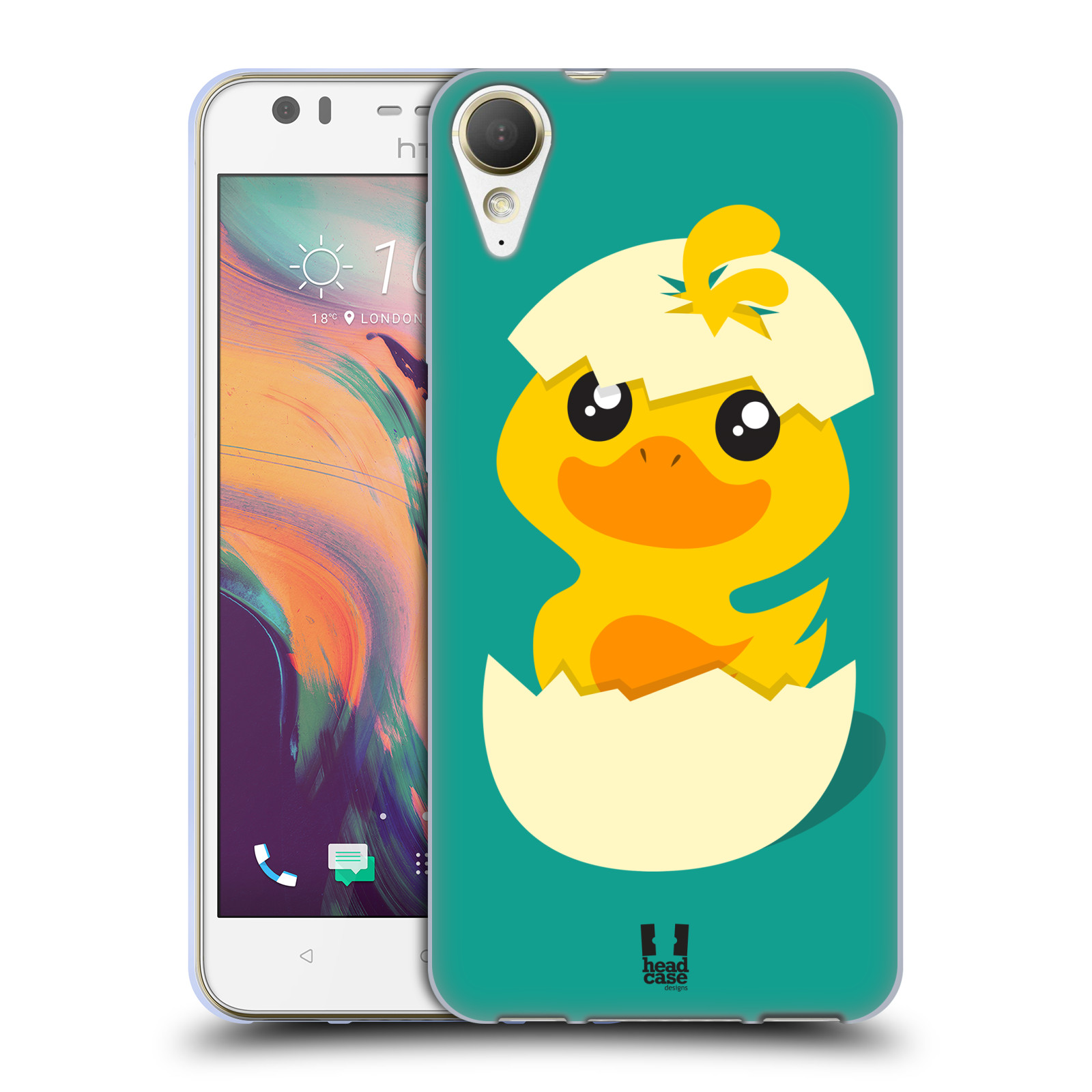 Silikonové pouzdro na mobil HTC Desire 10 Lifestyle - Head Case - KACHNIČKA Z VAJÍČKA