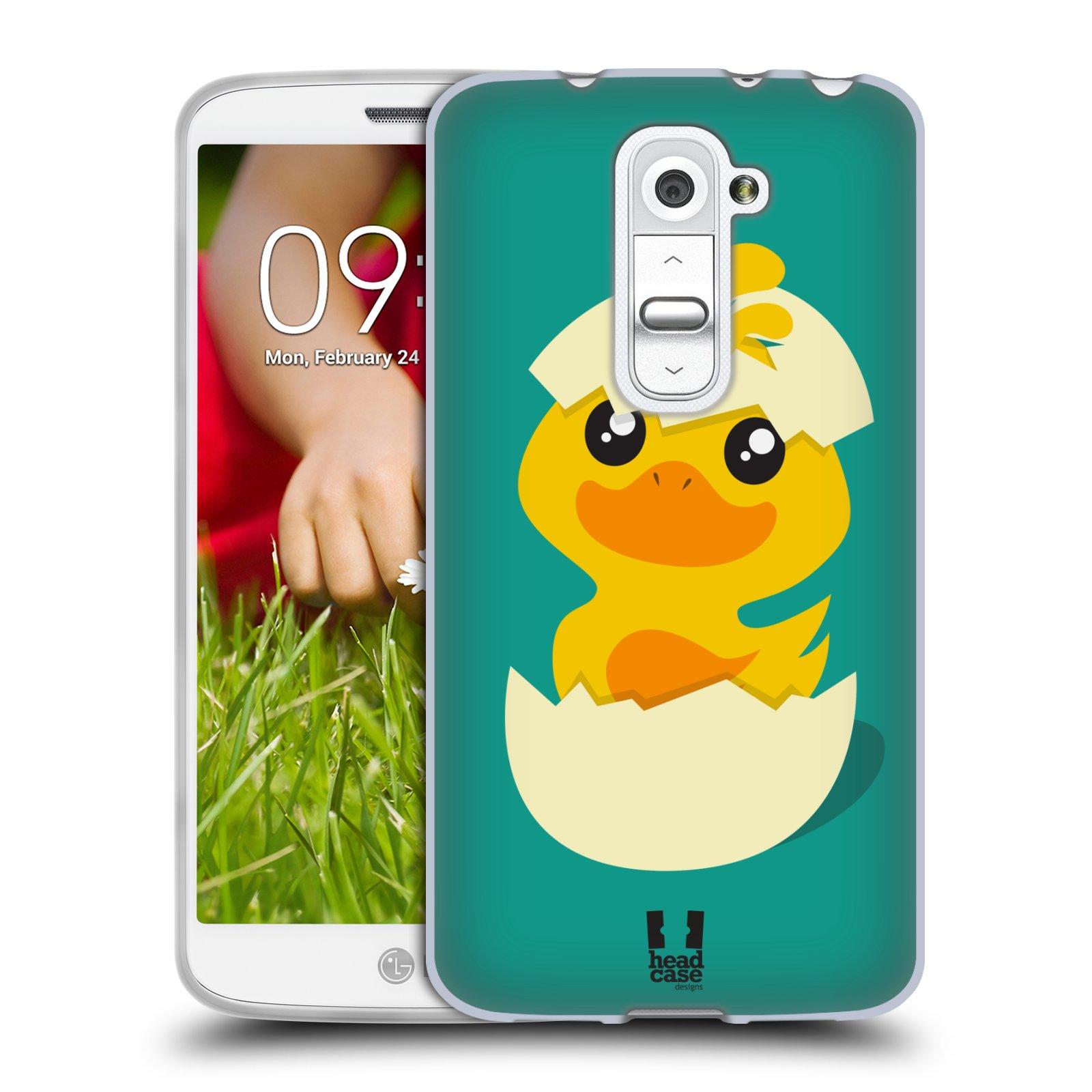 Silikonové pouzdro na mobil LG G2 Mini HEAD CASE KACHNIČKA Z VAJÍČKA (Silikonový kryt či obal na mobilní telefon LG G2 Mini D620)