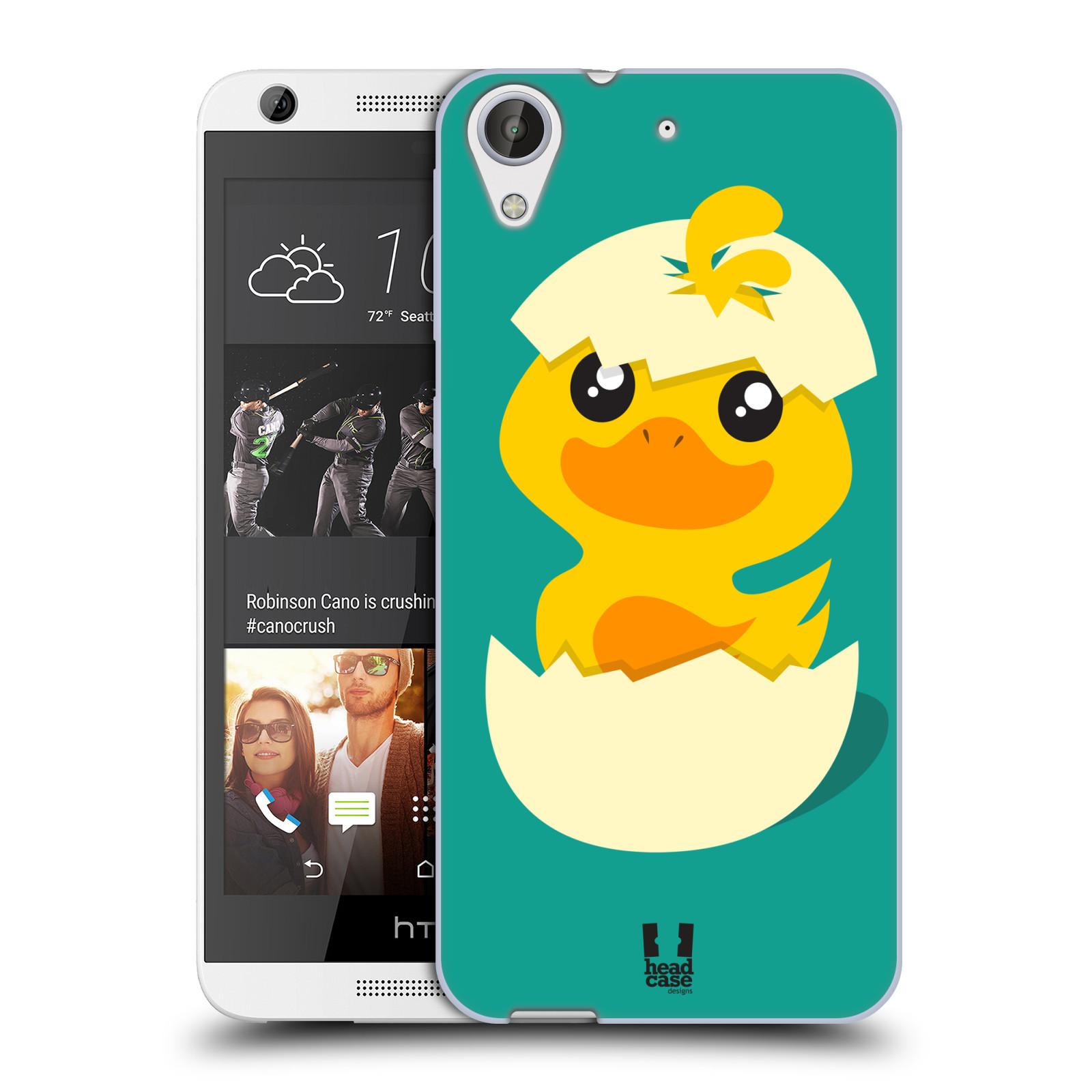 Silikonové pouzdro na mobil HTC Desire 626 / 626G HEAD CASE KACHNIČKA Z VAJÍČKA