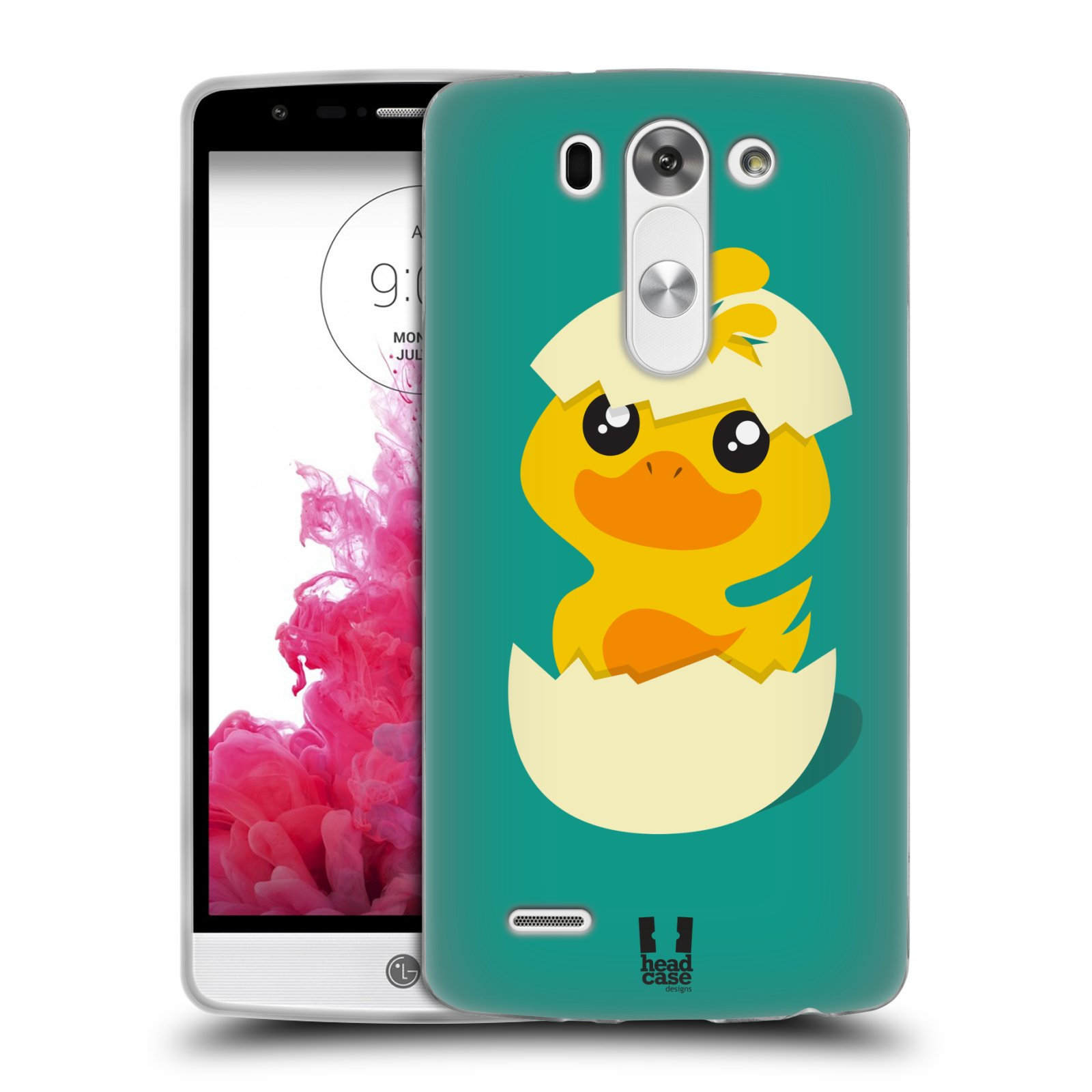 Silikonové pouzdro na mobil LG G3s HEAD CASE KACHNIČKA Z VAJÍČKA (Silikonový kryt či obal na mobilní telefon LG G3s D722)
