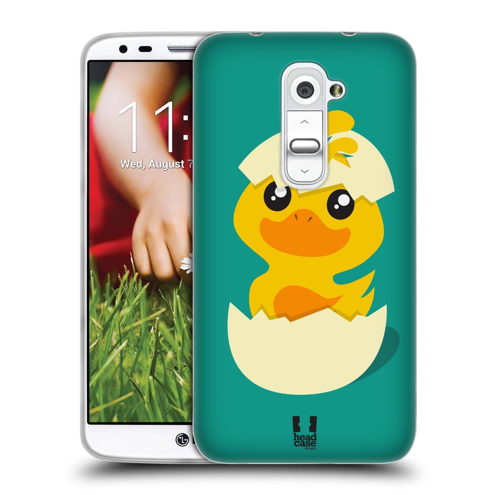 Silikonové pouzdro na mobil LG G2 HEAD CASE KACHNIČKA Z VAJÍČKA (Silikonový kryt či obal na mobilní telefon LG G2 D802)