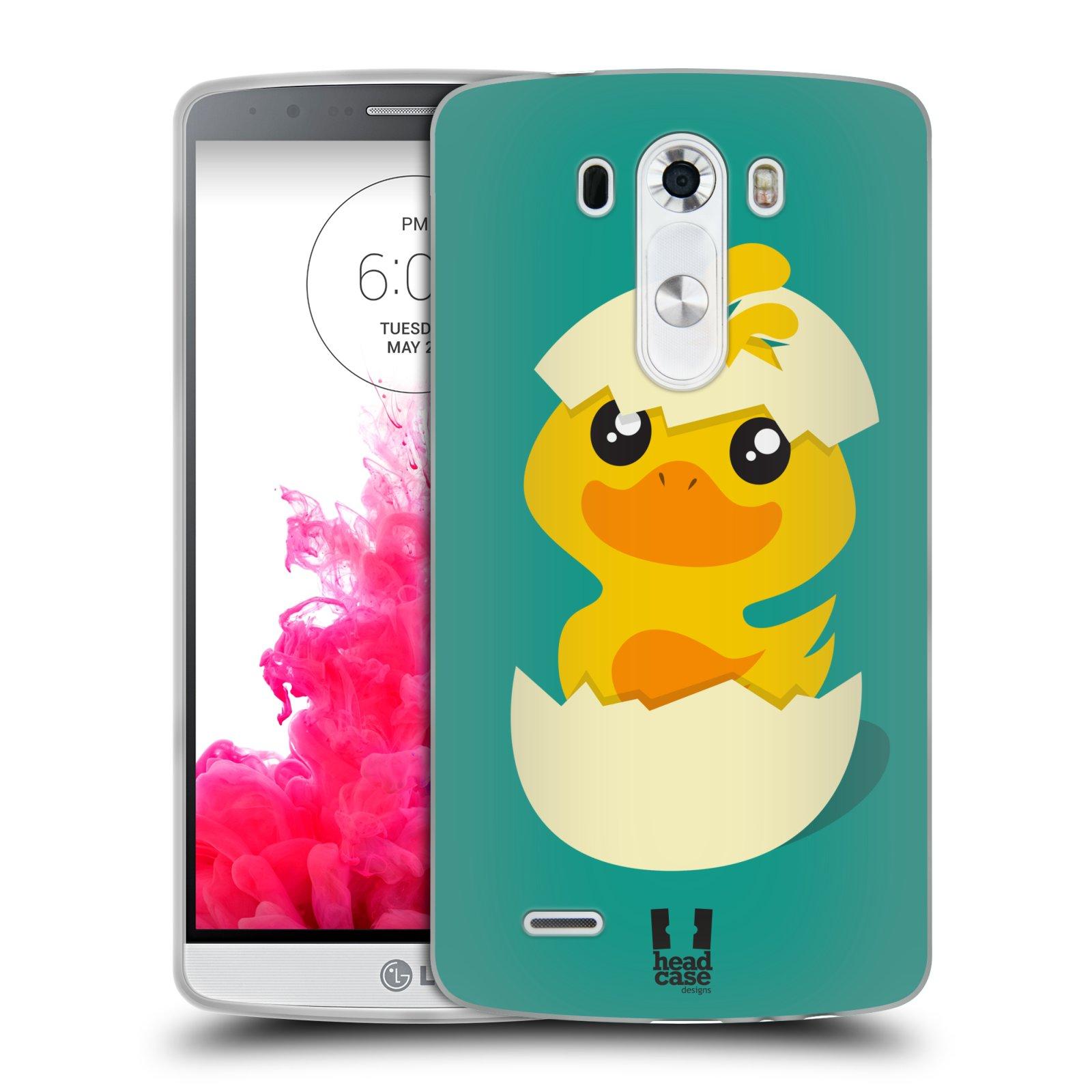Silikonové pouzdro na mobil LG G3 HEAD CASE KACHNIČKA Z VAJÍČKA (Silikonový kryt či obal na mobilní telefon LG G3 D855)